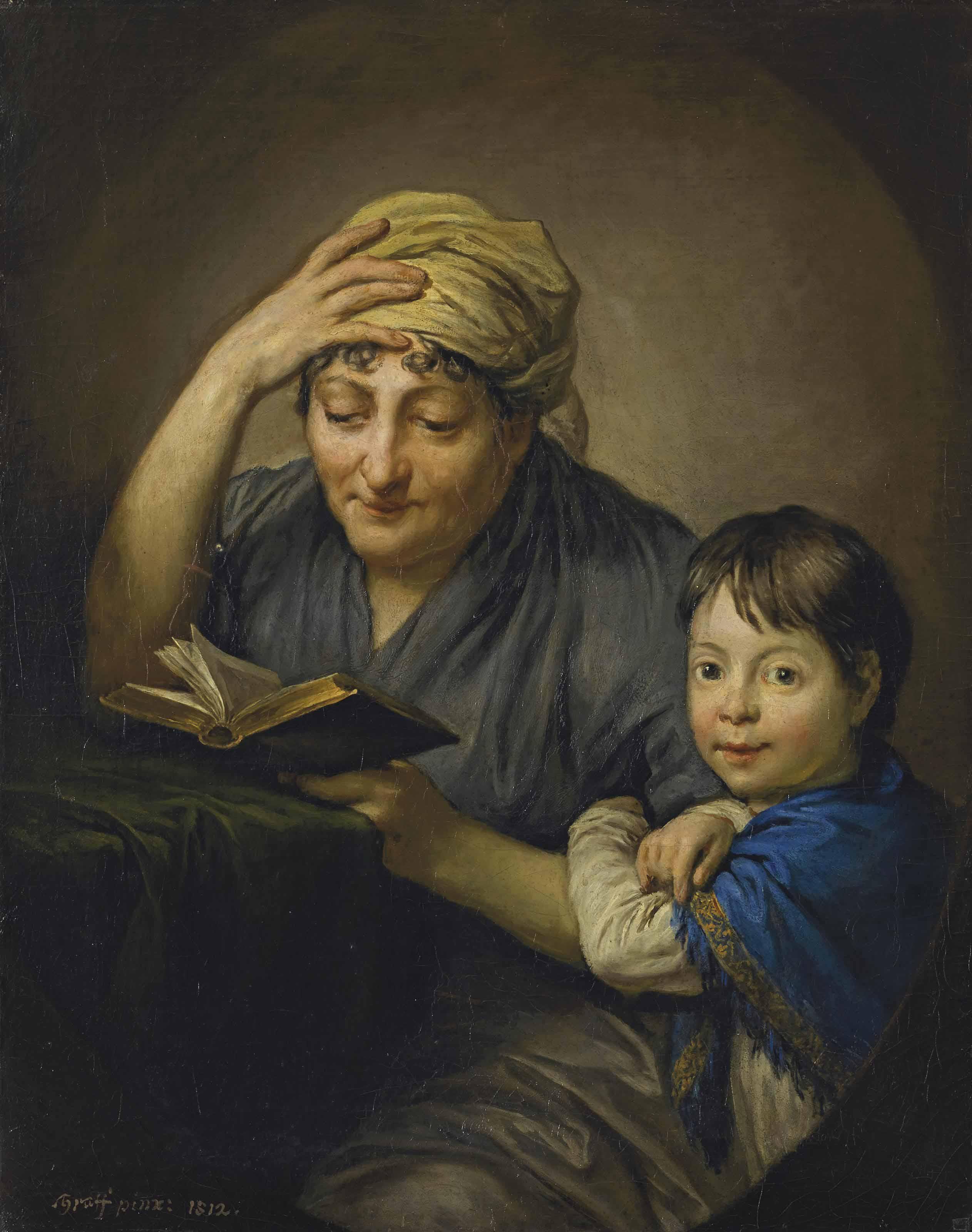 Frau Graff mit Enkelin, 1812