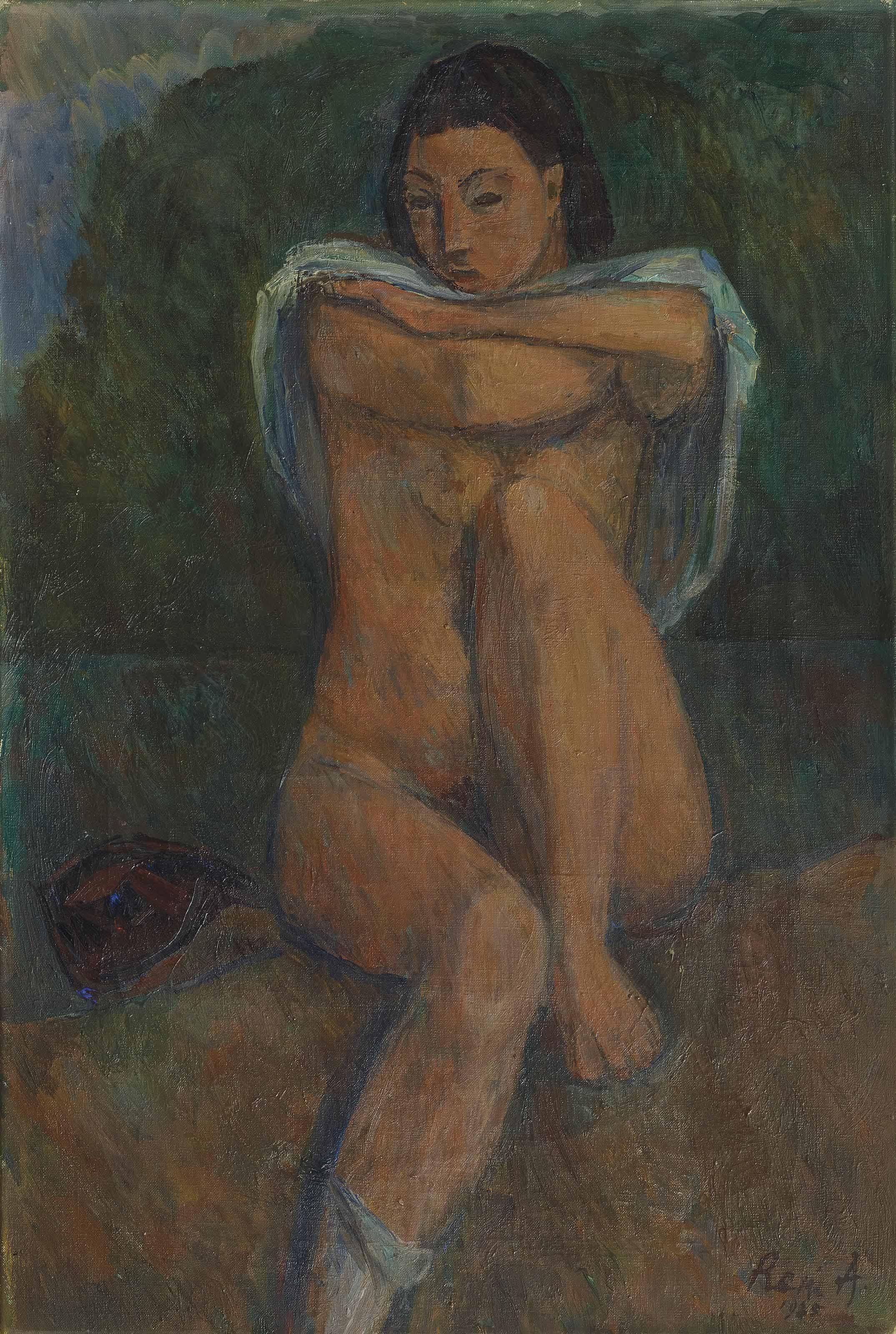 Nu assis, 1925