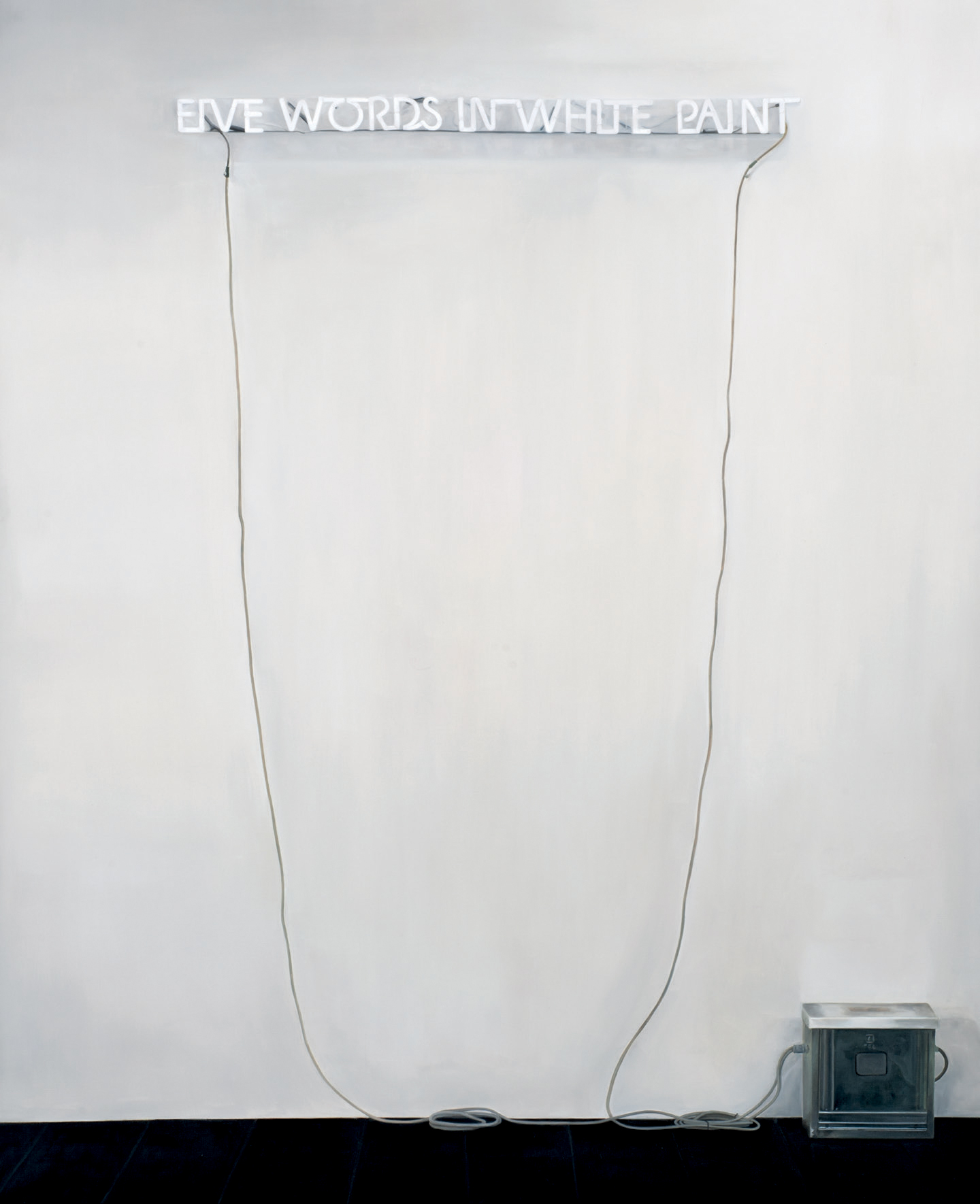 Five Words in White Paint (After Joseph Kosuth)