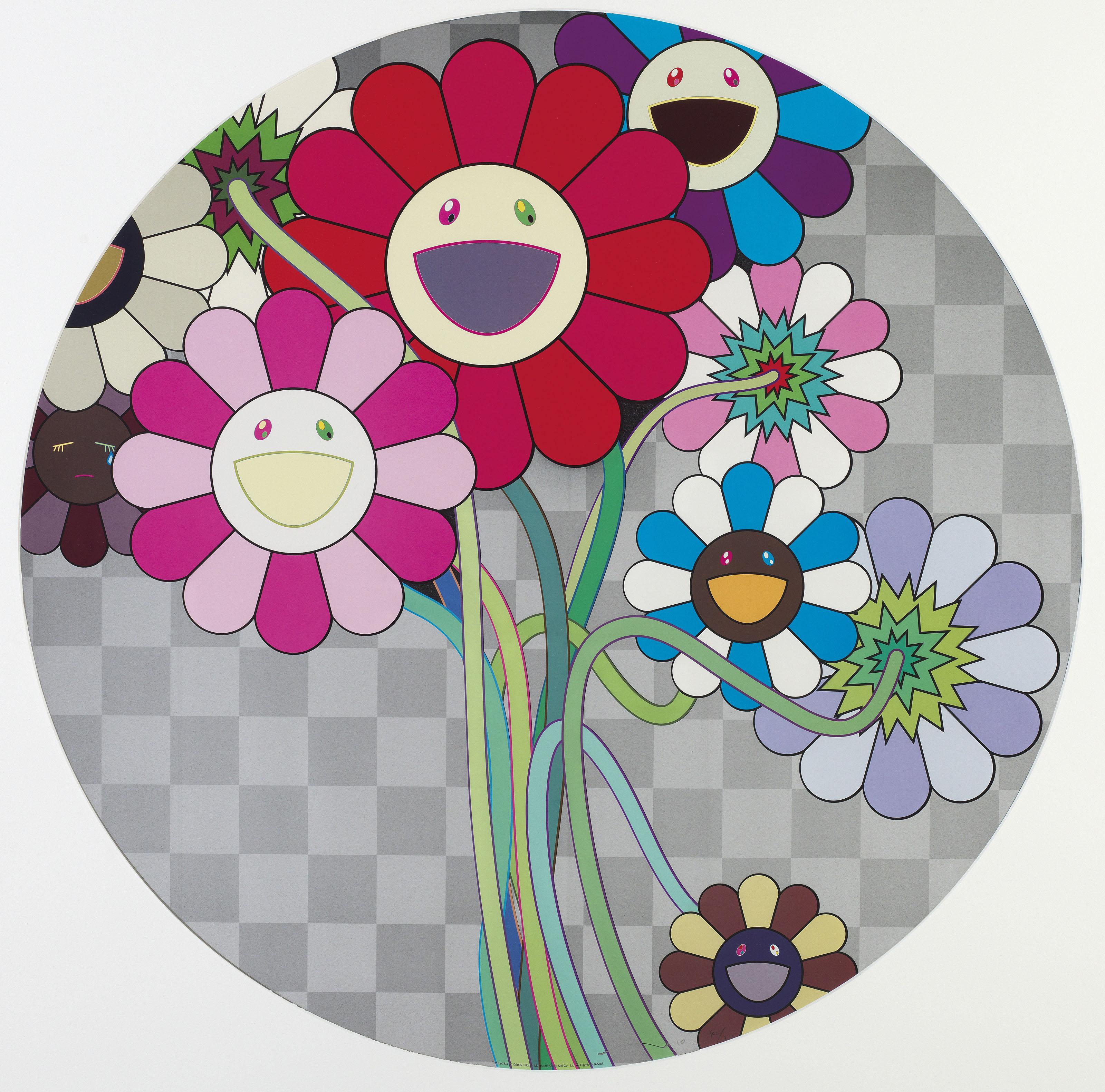 TAKASHI MURAKAMI Japanese B 1962 Flowers for Algernon Even The Digital