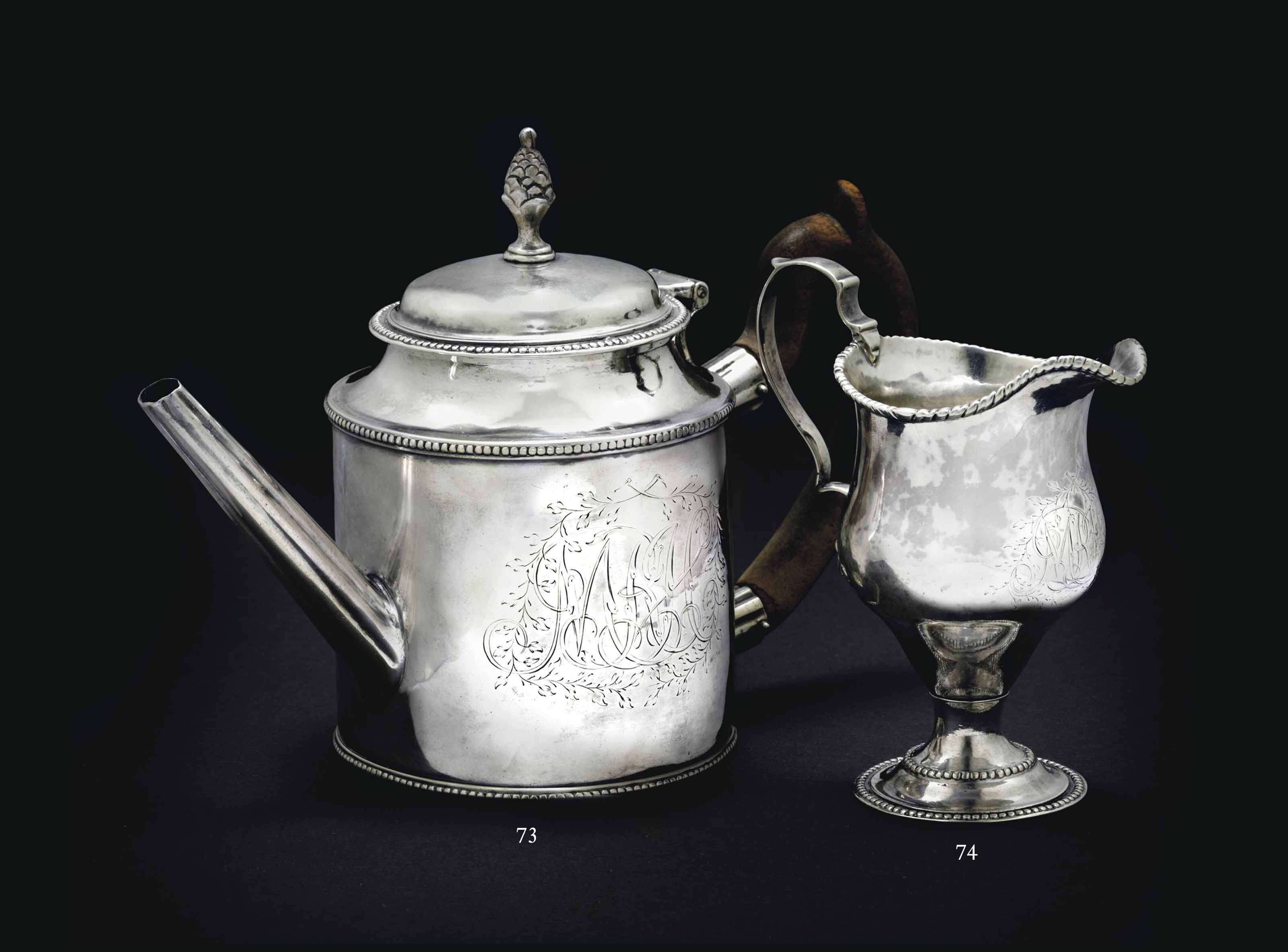 AN IMPORTANT SILVER TEAPOT MADE FOR MOSES MICHAEL HAYS