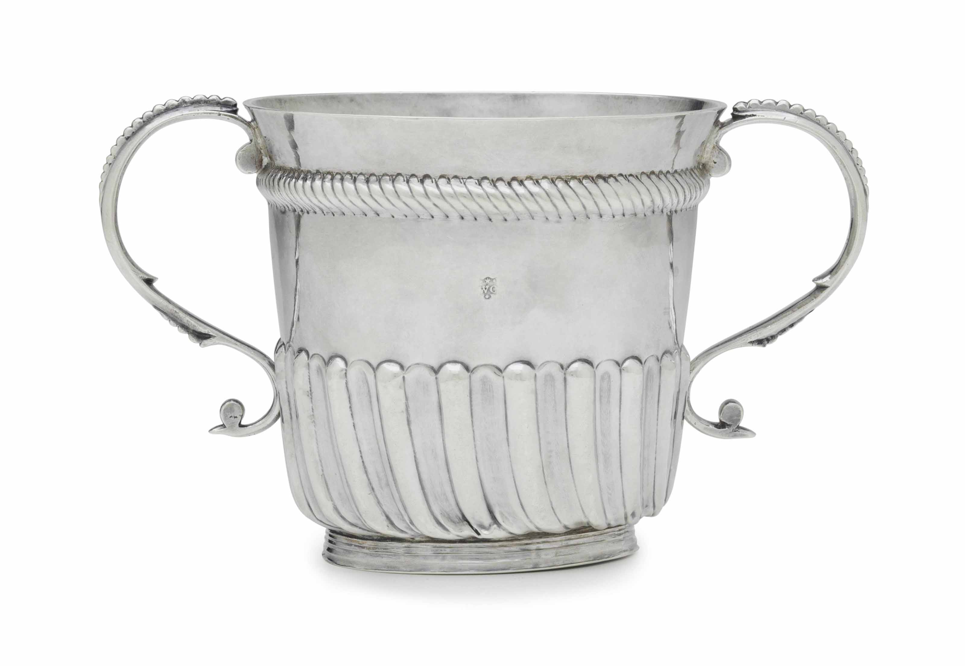A SILVER TWO-HANDLED CUP FROM THE FARMINGTON CHURCH