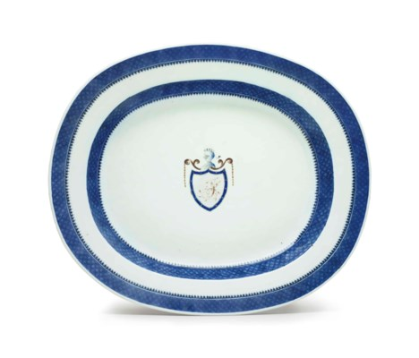 AN INITIALED OVAL SOUP TUREEN