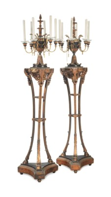 A PAIR OF GEORGE III STYLE EBO