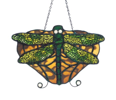 A LEADED GLASS BUTTERFLY-FORM