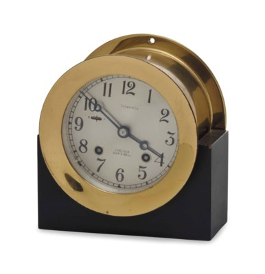 A 'CHELSEA SHIP'S BELL' CLOCK,