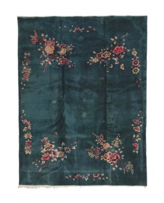A CHINESE NICHOLS CARPET,