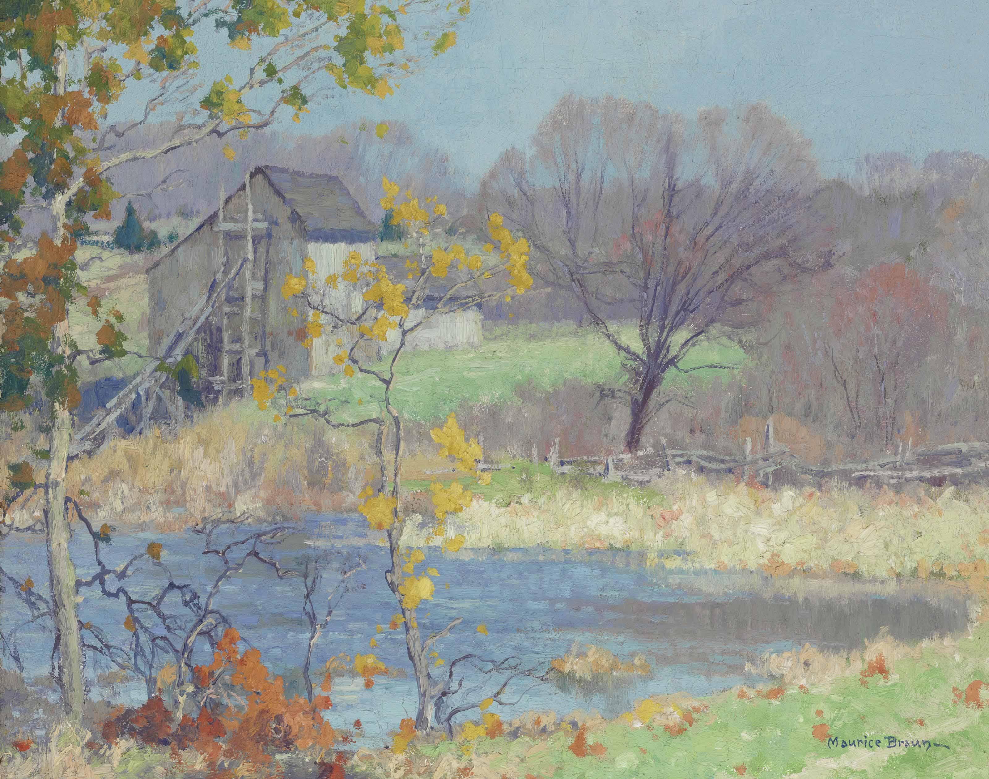 Pond at Old Lyme, Connecticut