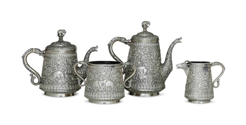 AN INDIAN COLONIAL FOUR-PIECE