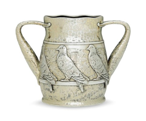 AN AMERICAN SILVER-GILT CUP OF
