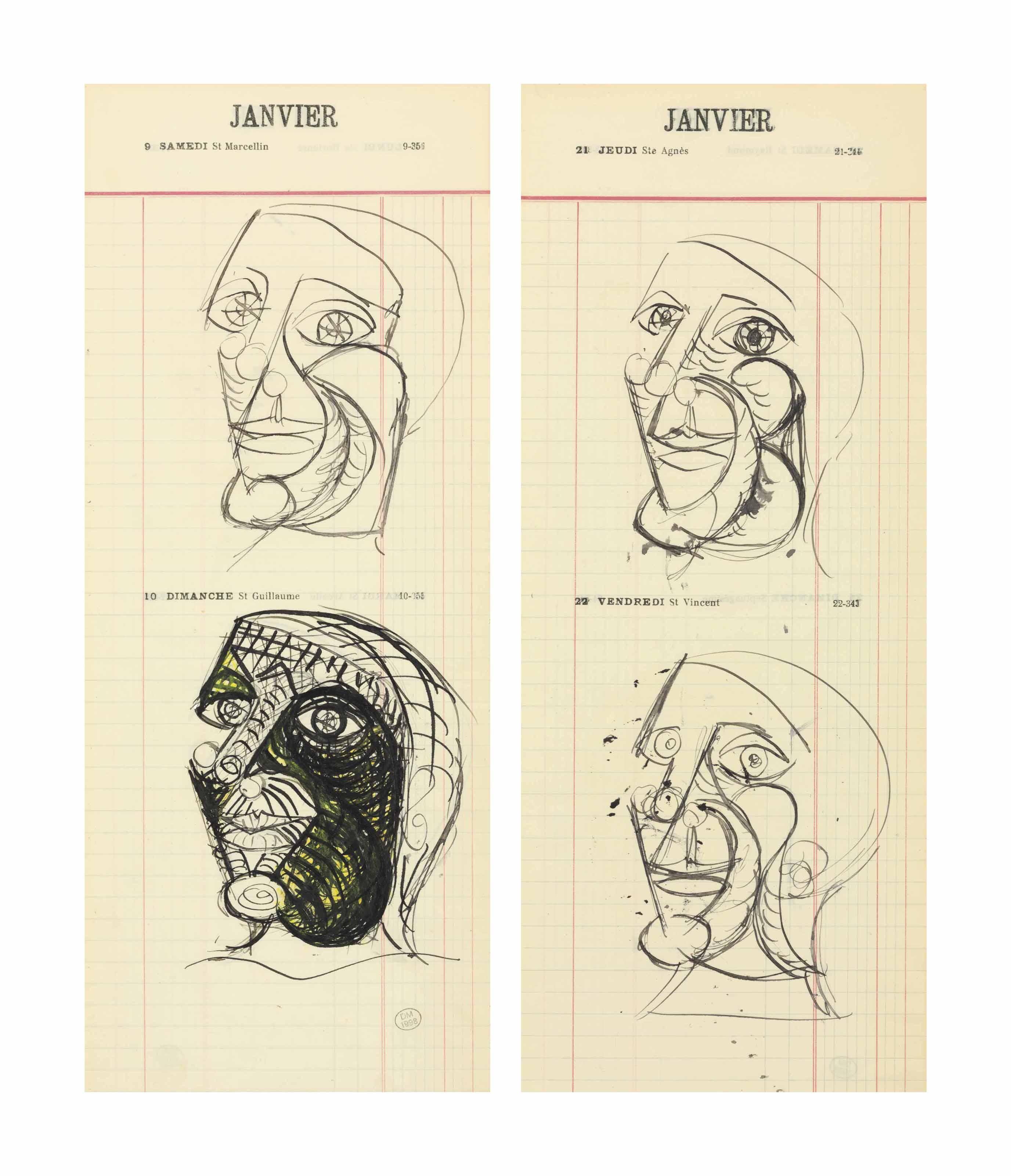 """Etudes pour """"Portrait de Picasso"""""""