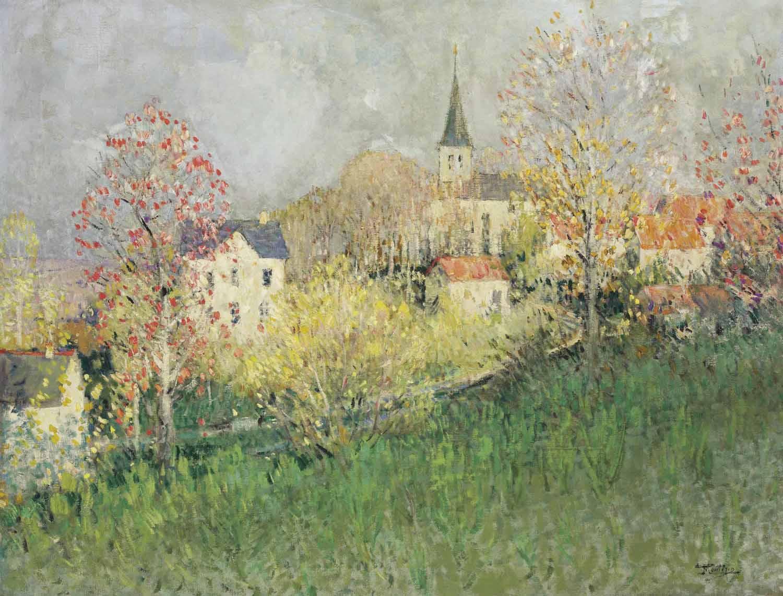 Paysage, vue de l'église