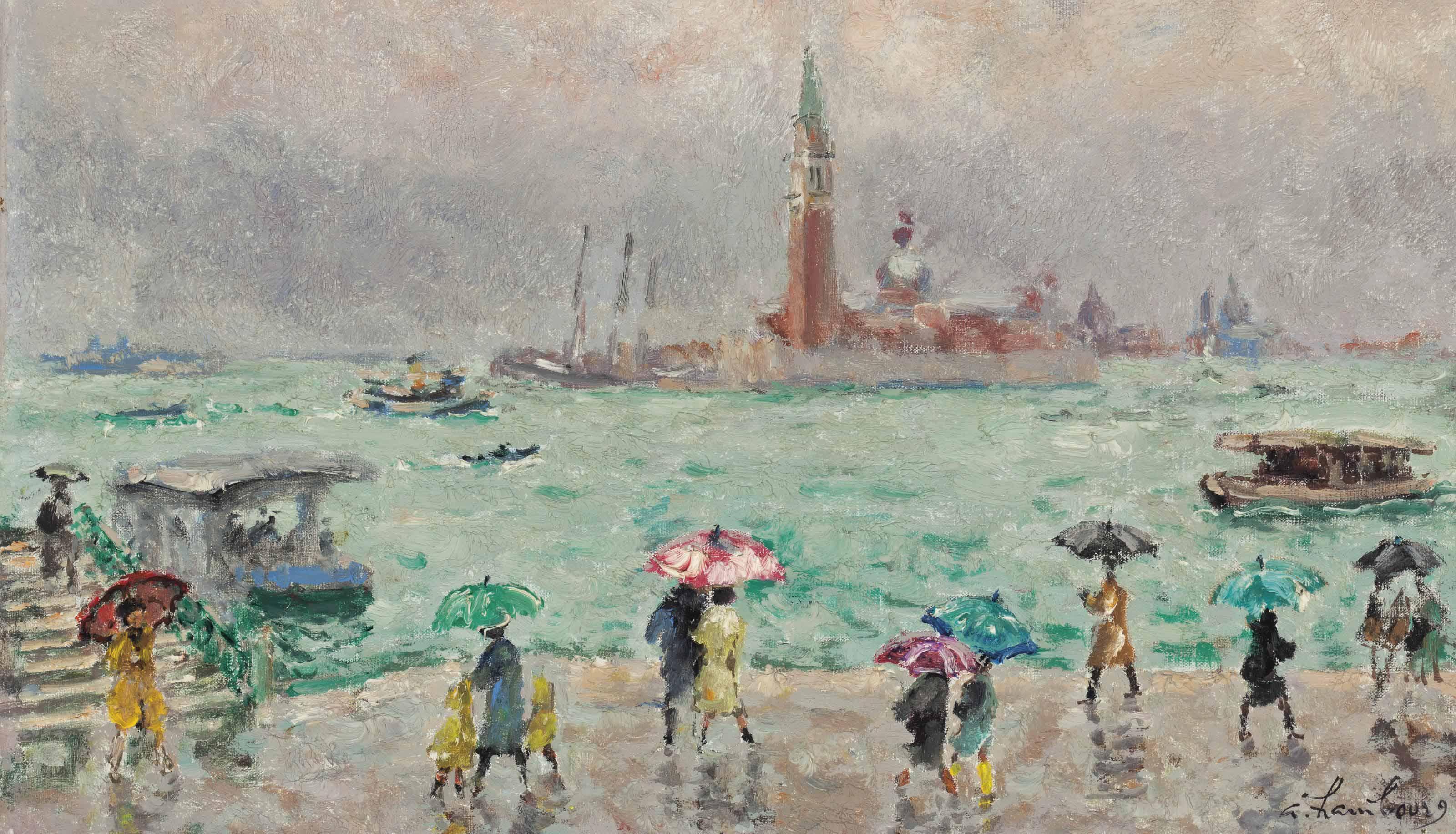 Pluie de printemps à Venise