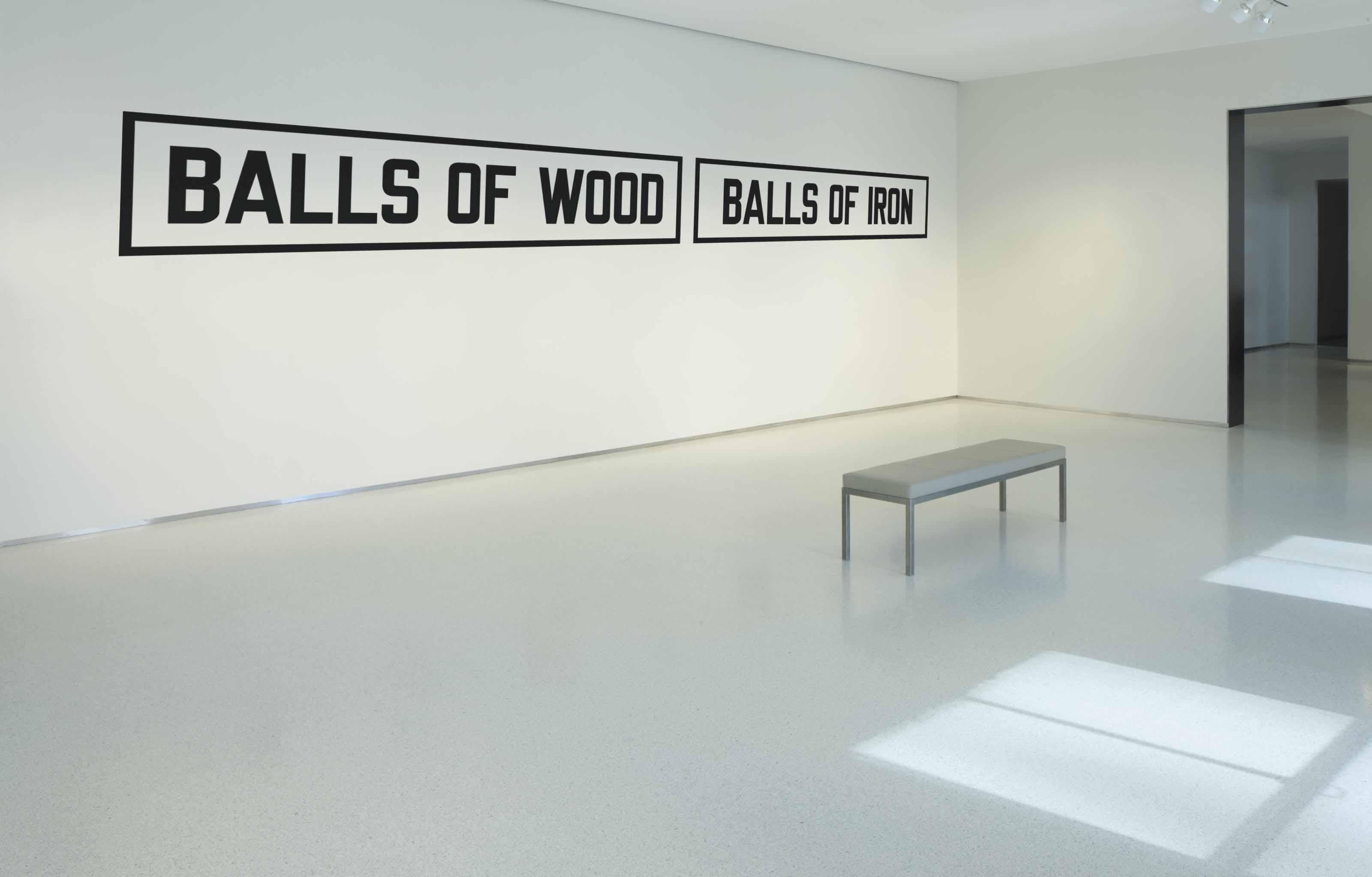 BALLS OF WOOD BALLS OF IRON