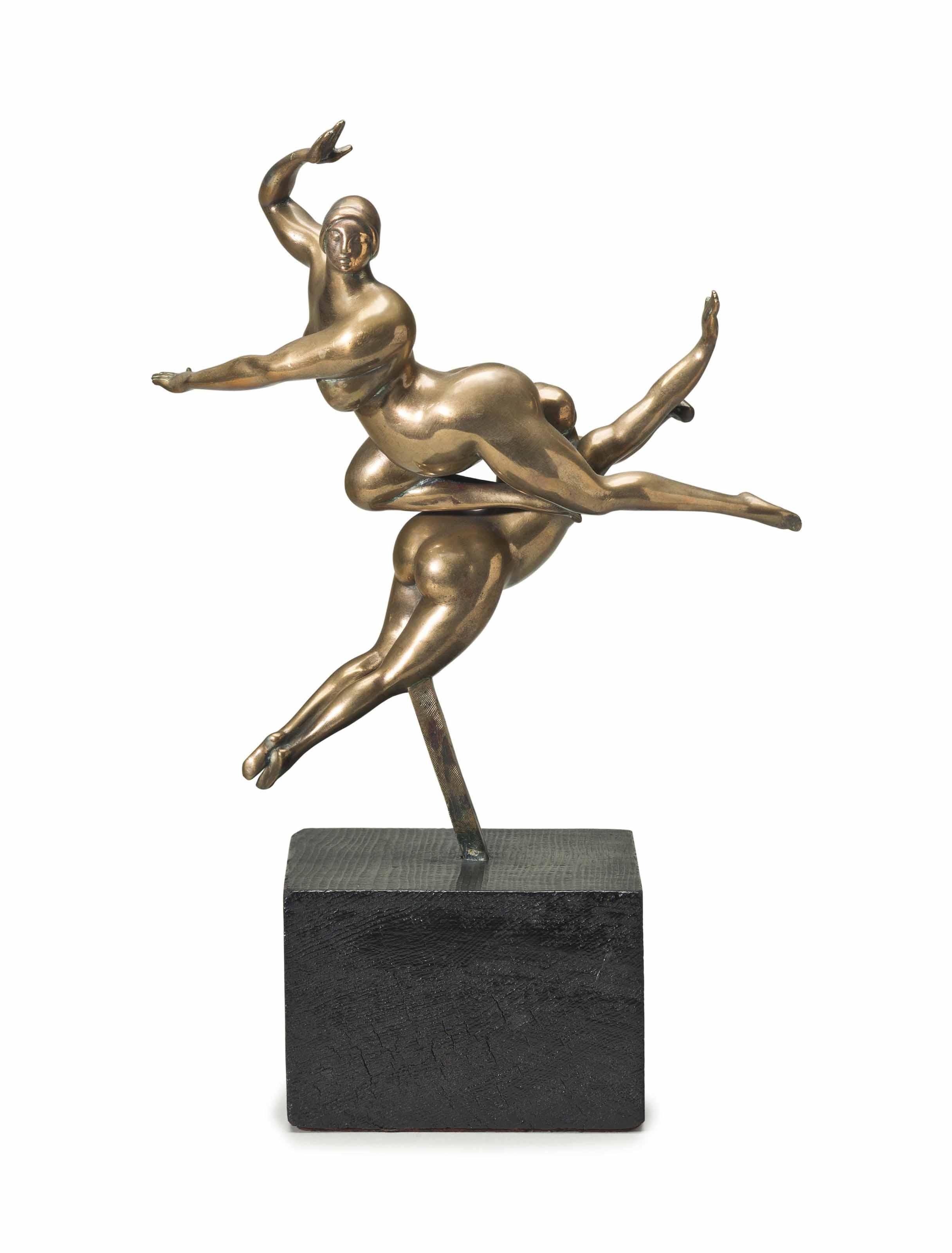 Flying Figures (Two Floating Nude Acrobats) [LF 30]