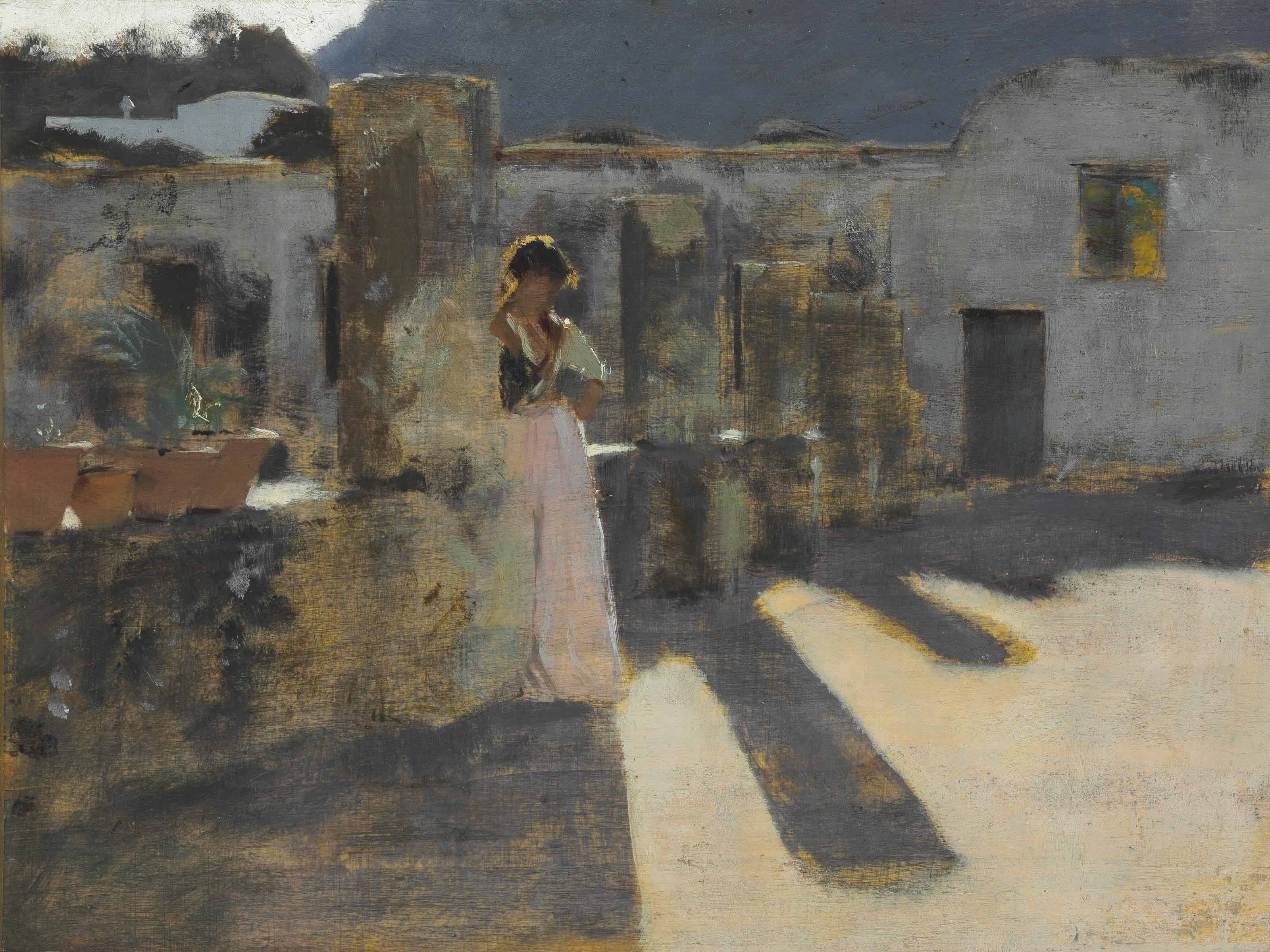 Capri Girl on a Rooftop