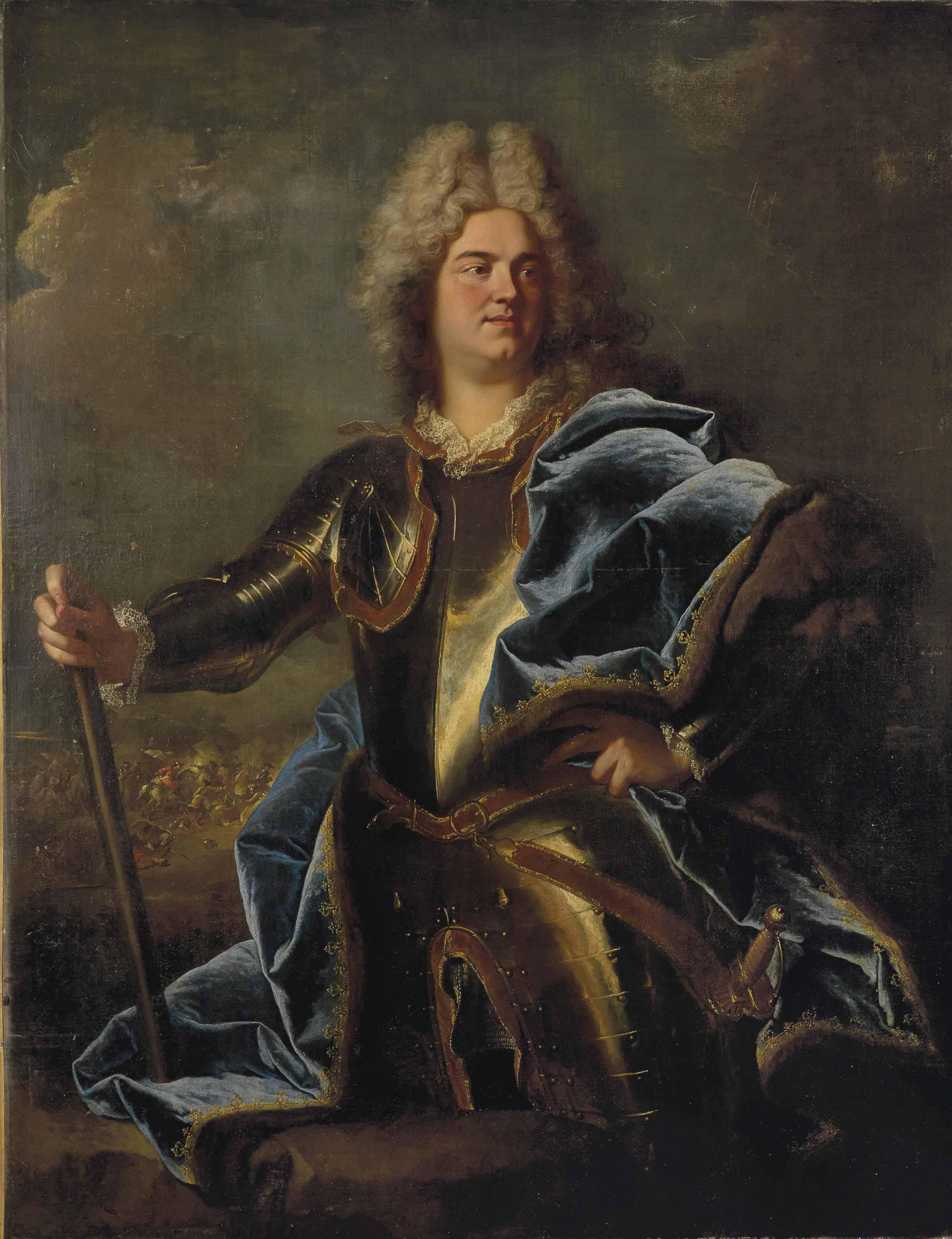 Portrait of a man, traditionally identified as Claude Louis Hector, duc de Villars (1653-1734)