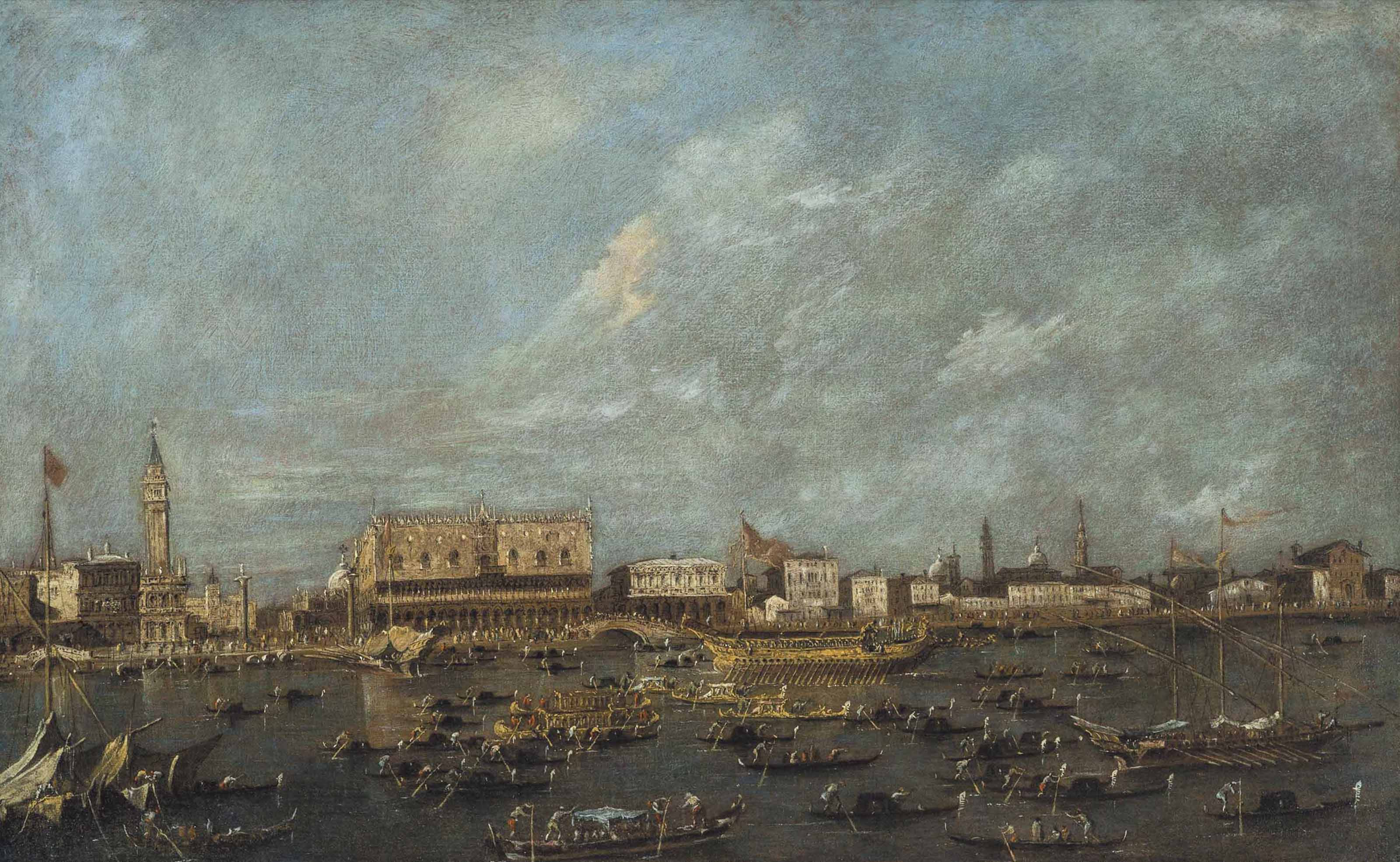 Venice, the Bacino di San Marco with the Departure of the Bucintoro