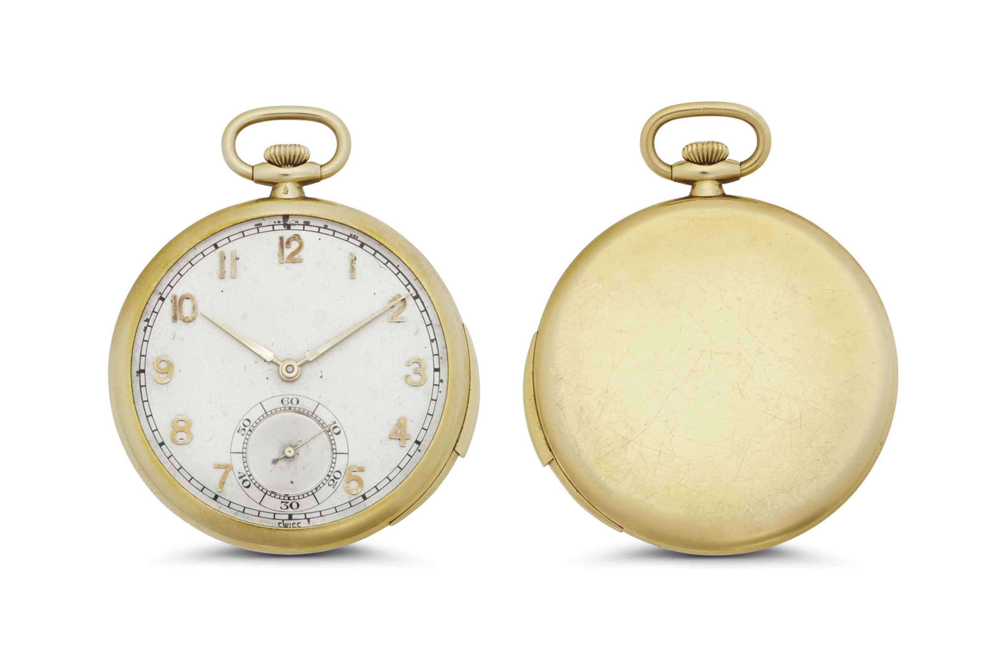 C. H. Meylan. A Fine 18k Gold Ultrathin Minute Repeating Openface Keyless Lever Dress Watch