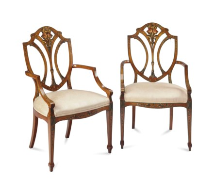 A PAIR OF EDWARDIAN STYLE STAI