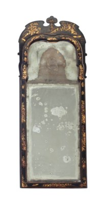 AN ENGLISH JAPANNED MIRROR,