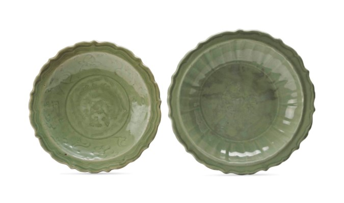TWO SIMILAR CHINESE LONGQUAN C