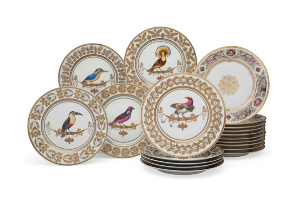 THIRTY LIMOGES PORCELAIN PLATE