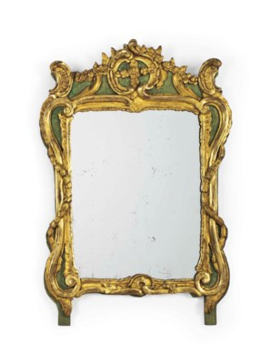 A FRENCH PROVINCIAL GREEN PAIN