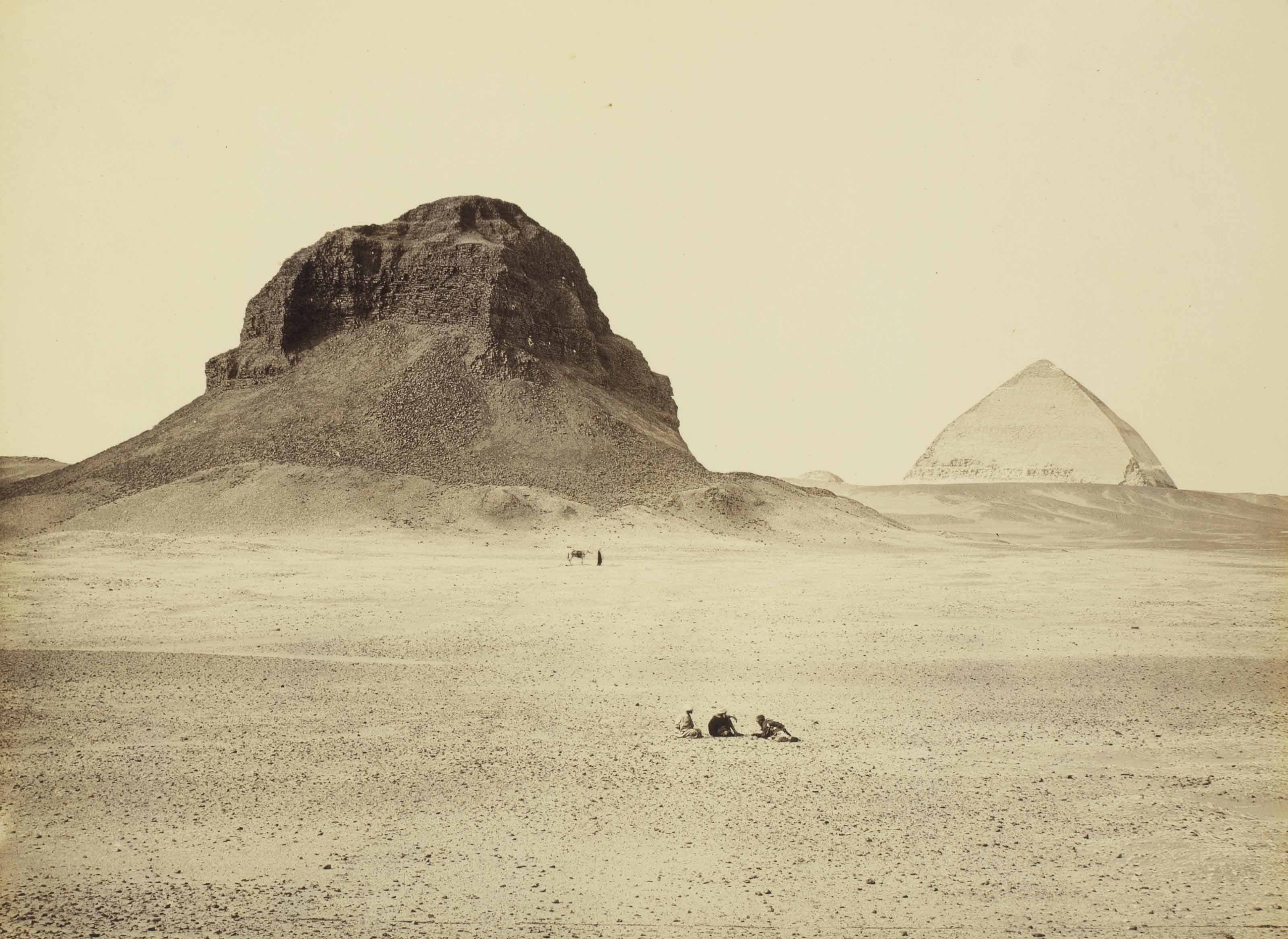 The Pyramids of Dahshur, from the East, 1858
