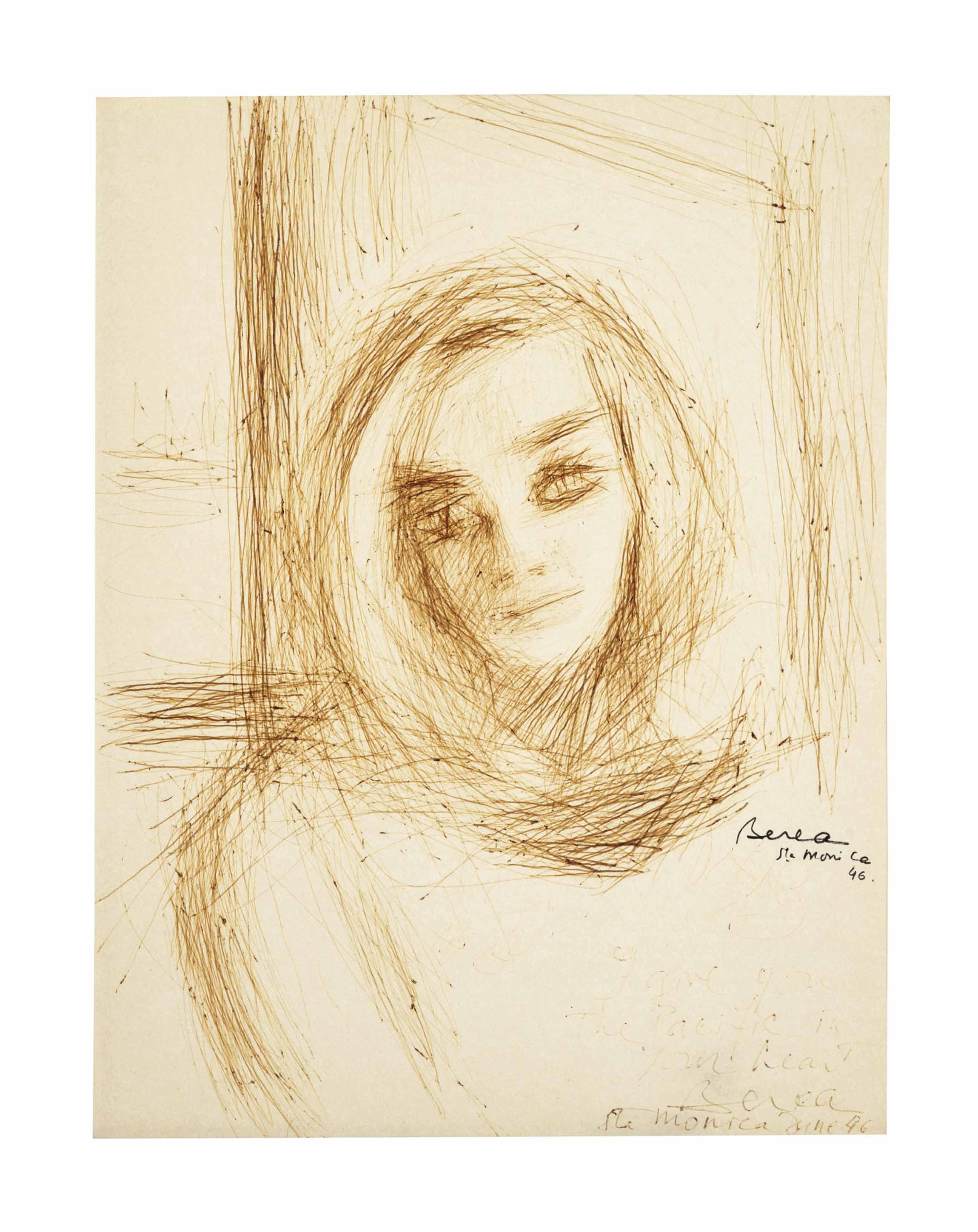 Portrait of Lizabeth Scott; and a companion portrait