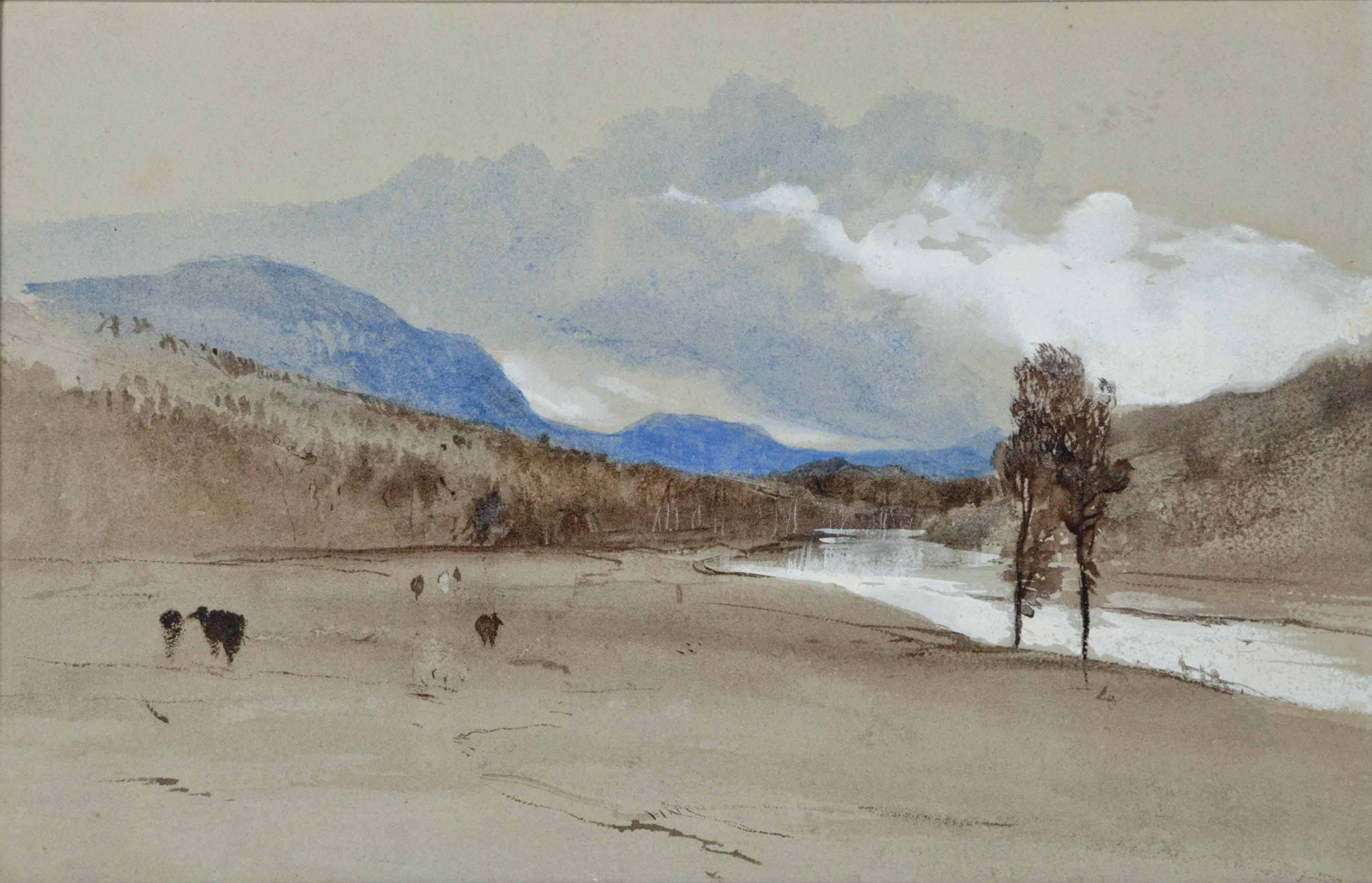 Landscape with mountains and river