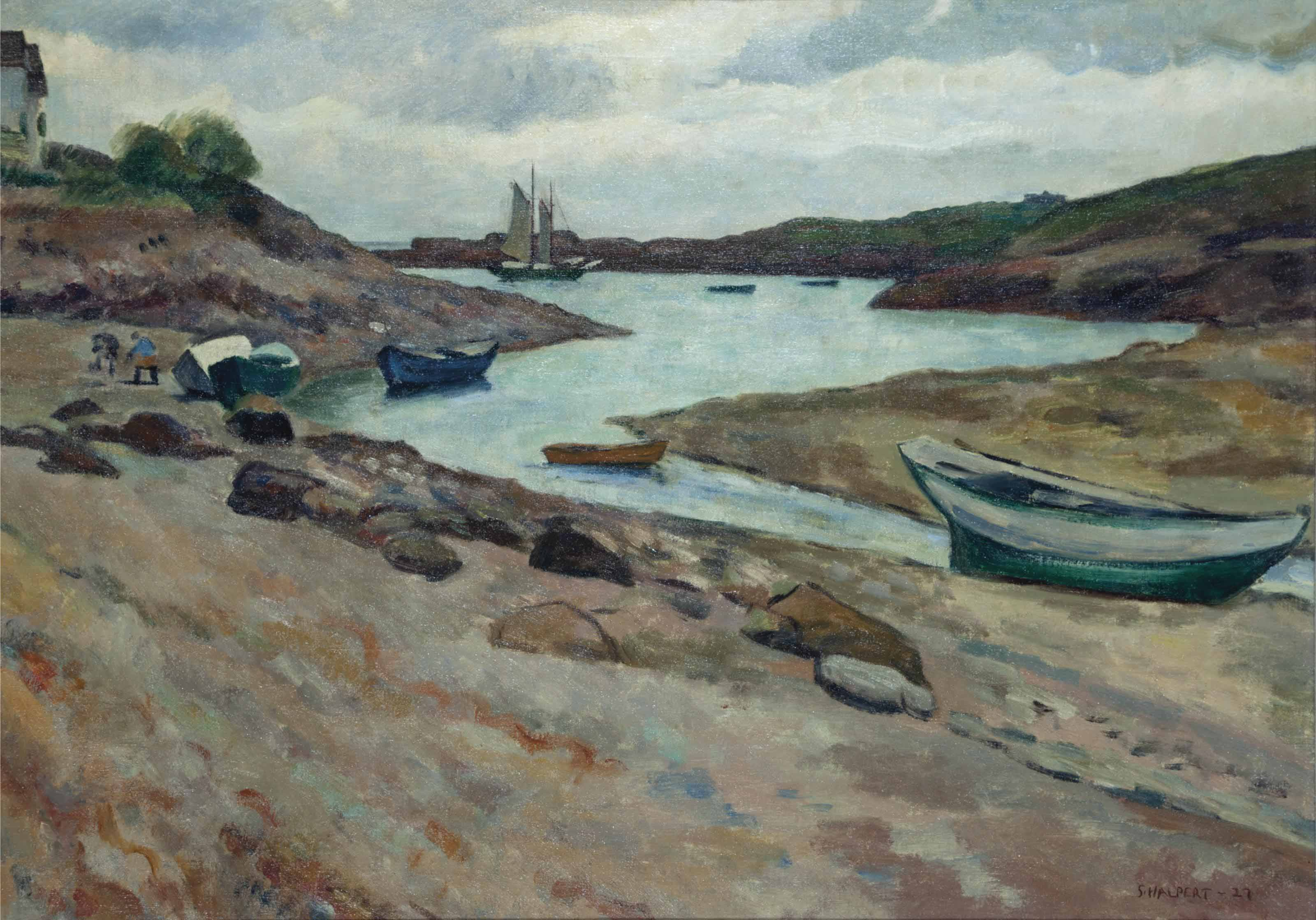 Boats in an inlet