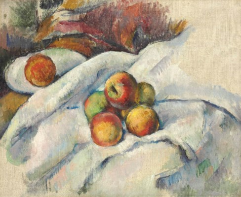 paul cézanne (1839-1906) | pommes sur un linge | 19th century