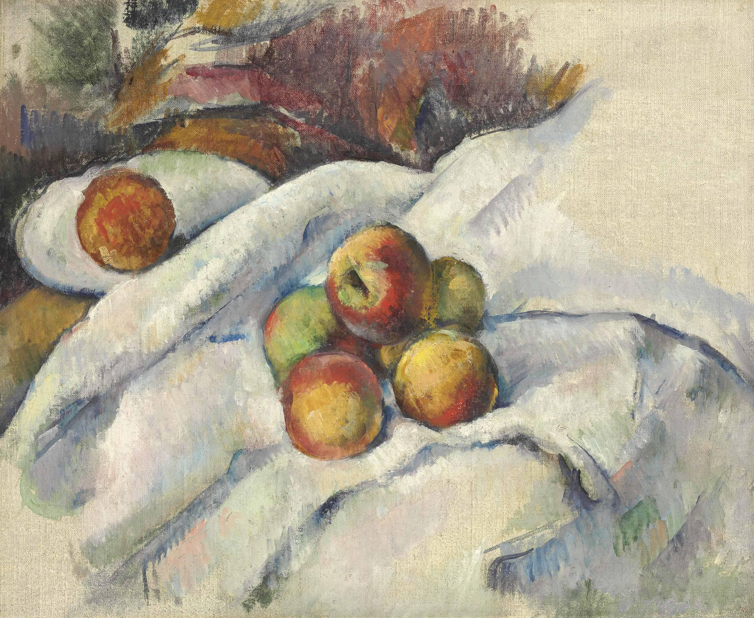 Pommes sur un linge