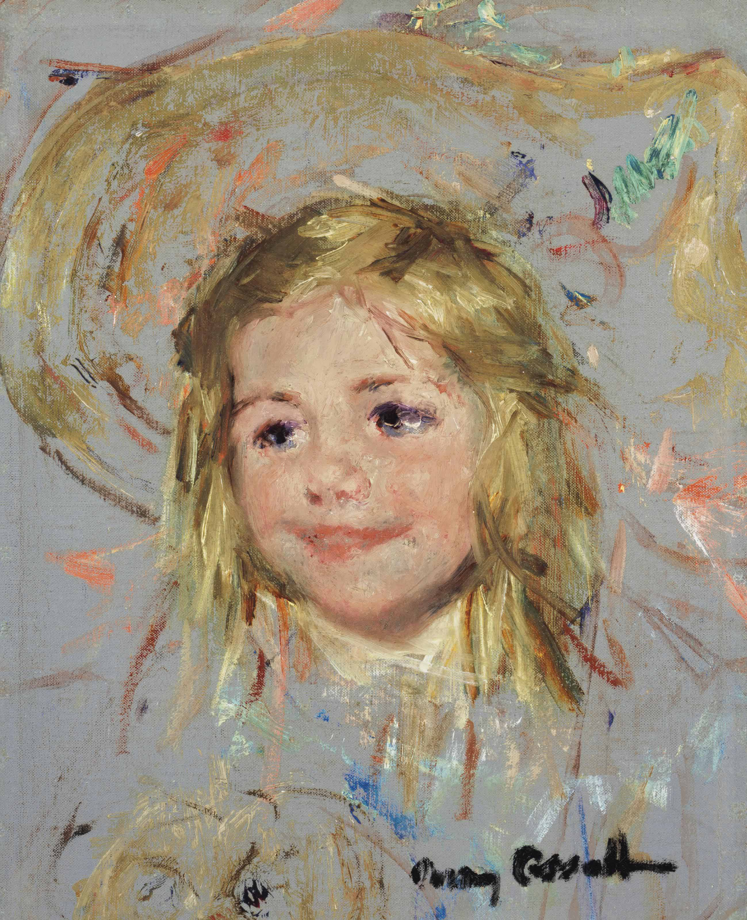 Head of Smiling Child: A Study for 'Mother and Child in a Boat'