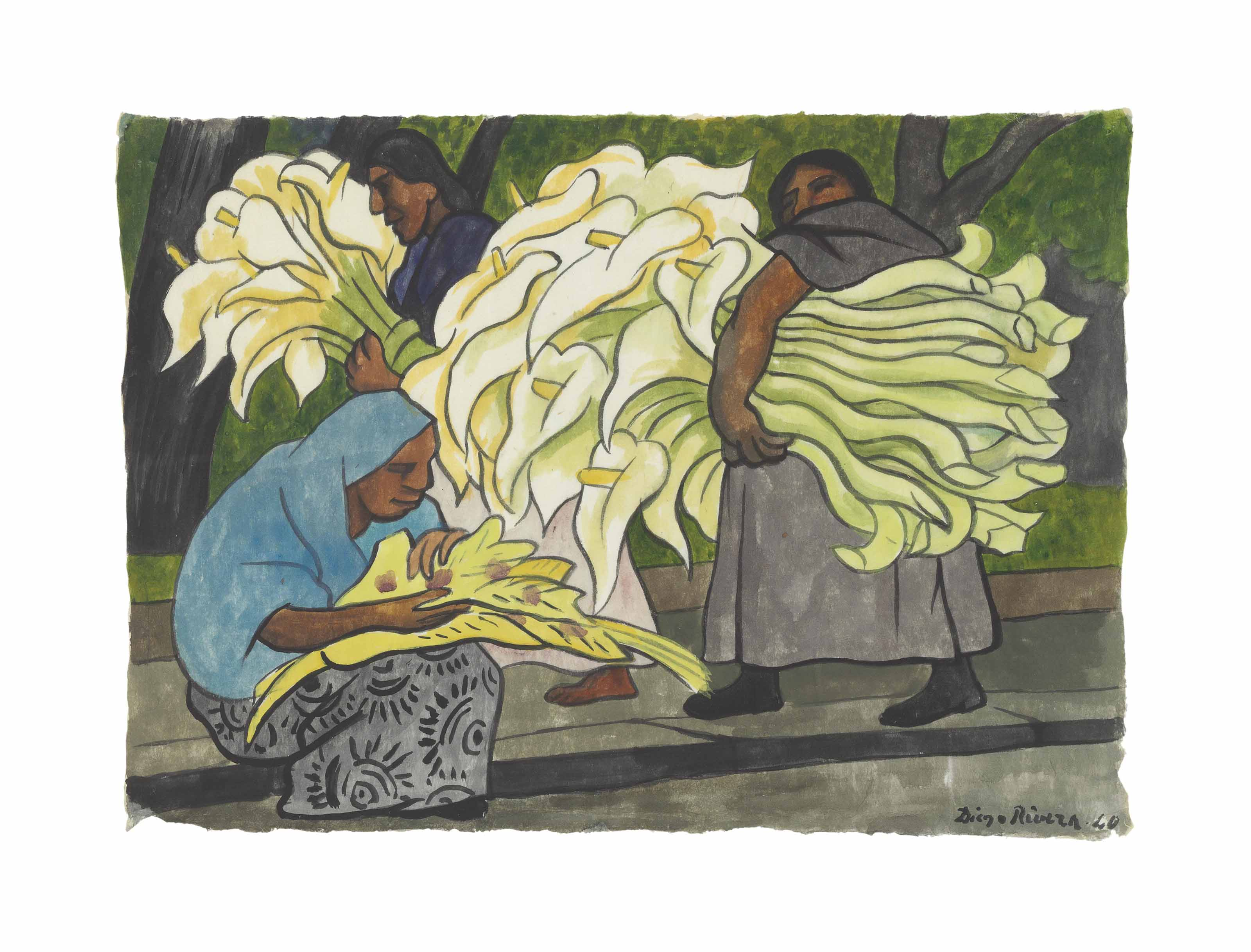 Cargando alcatraces (Tres mujeres, una sentada)