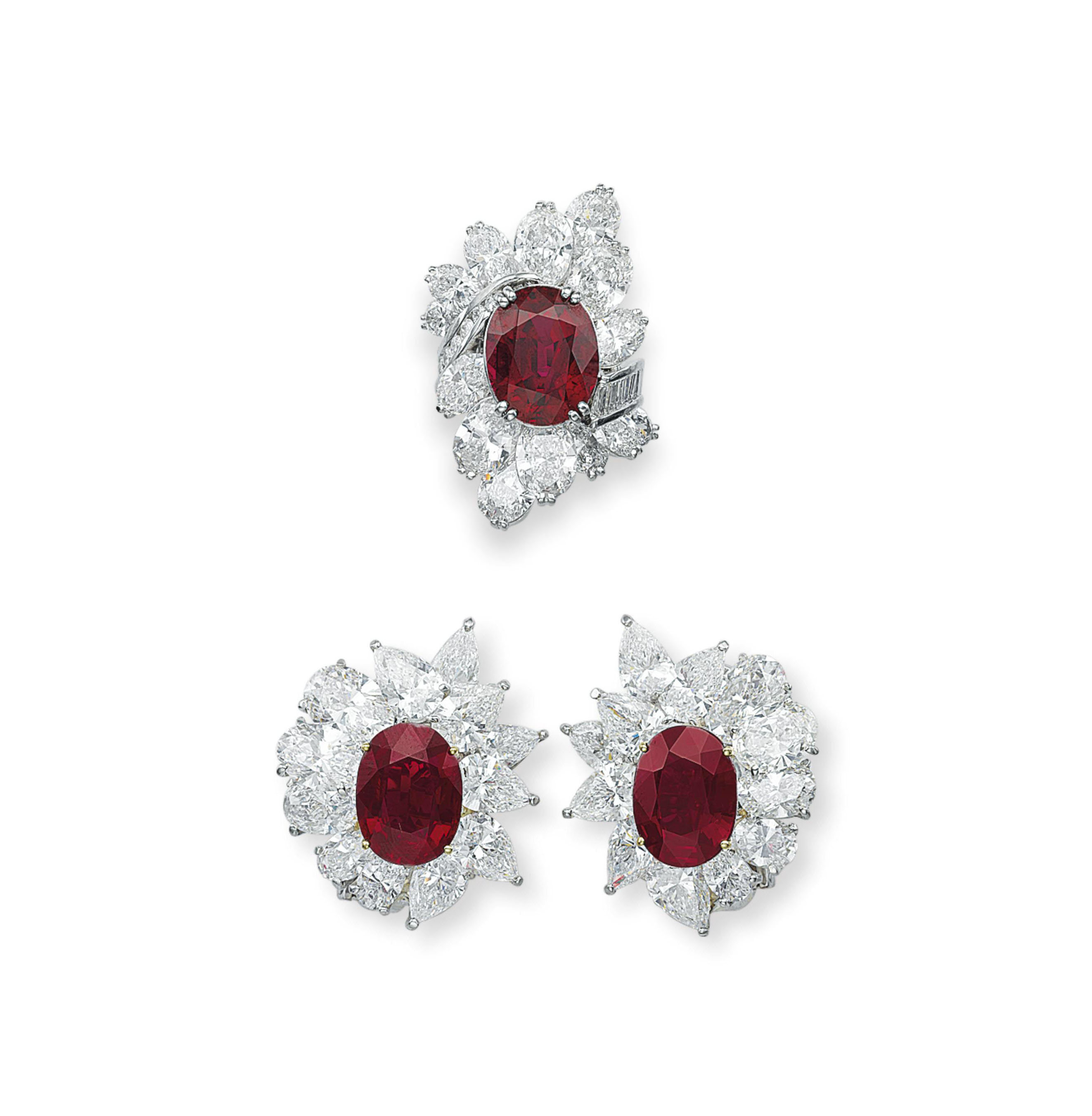 A SET OF RUBY AND DIAMOND JEWELRY, BY BLACK, STARR & FROST