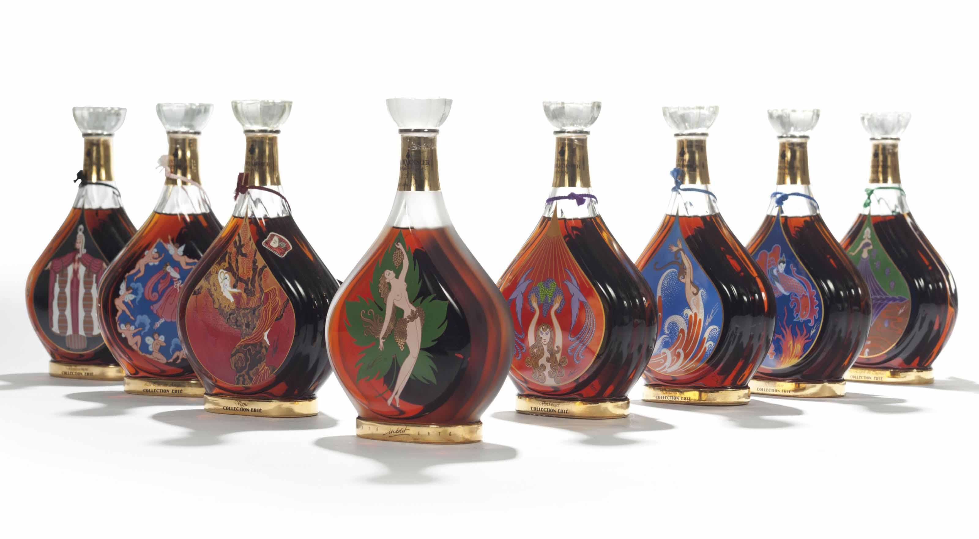 Erté Collection by Courvoisier No. 1 Vigne  (1) No. 2 Vendages  (1) No. 3 Distillation  (1) No. 4 Vieillissement  (1) No. 5 Dégustation  (1) No. 6 L'Esprit du Cognac  (1) No. 7 La Part des Anges  (1) No. 8 Inédit  (1)