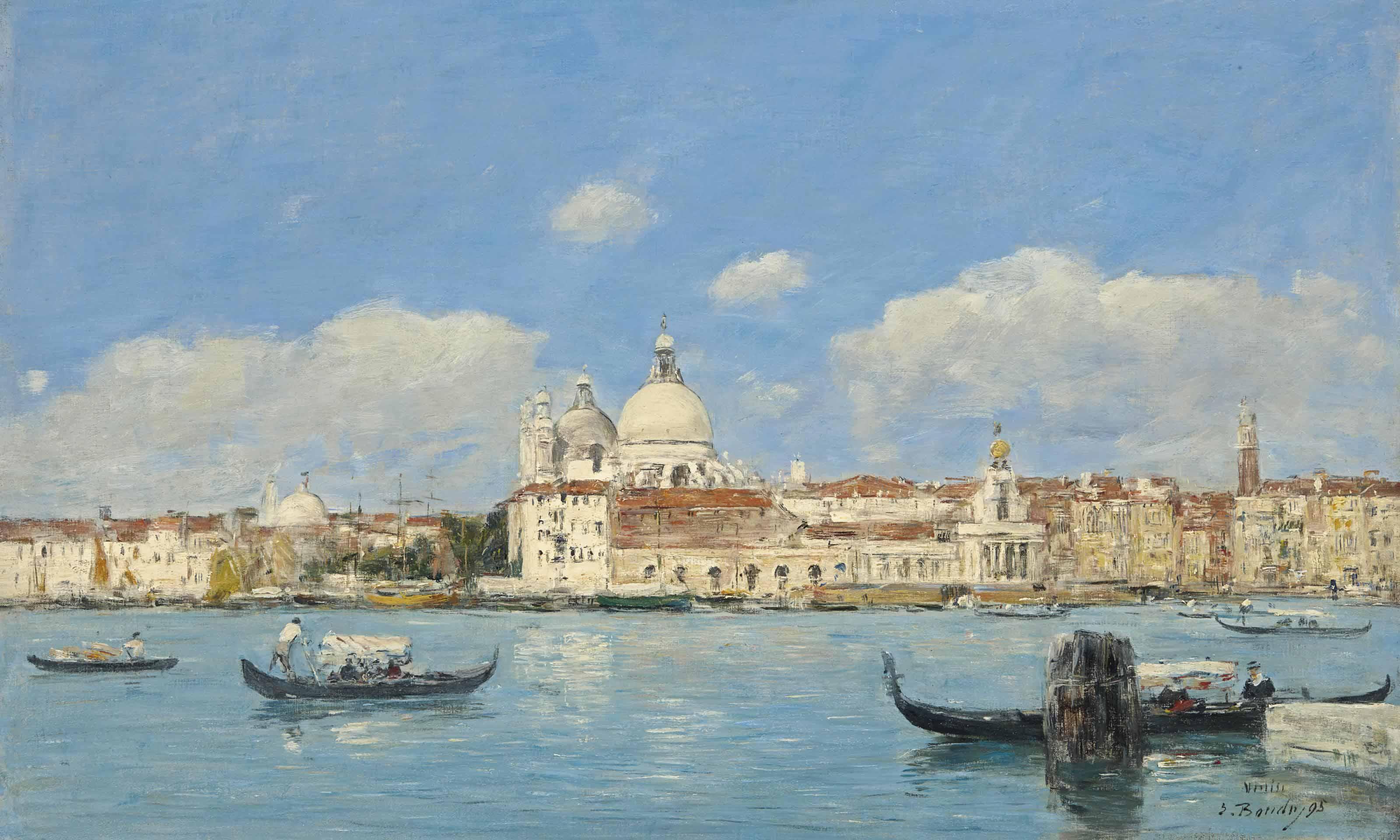 Venise, la Salute, la Douane et le début du Grand Canal
