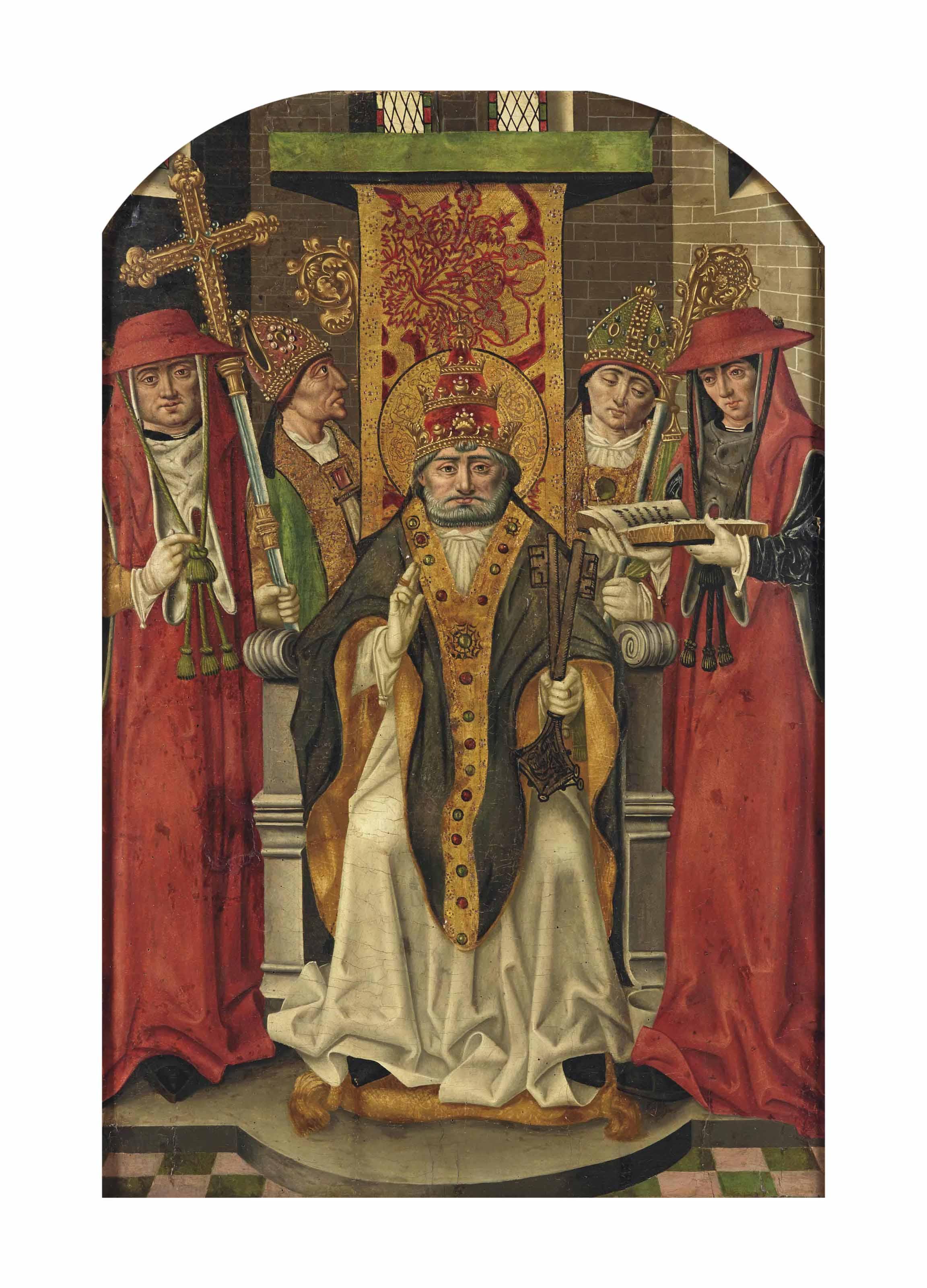 Saint Pierre entouré d'évêques et de cardinaux