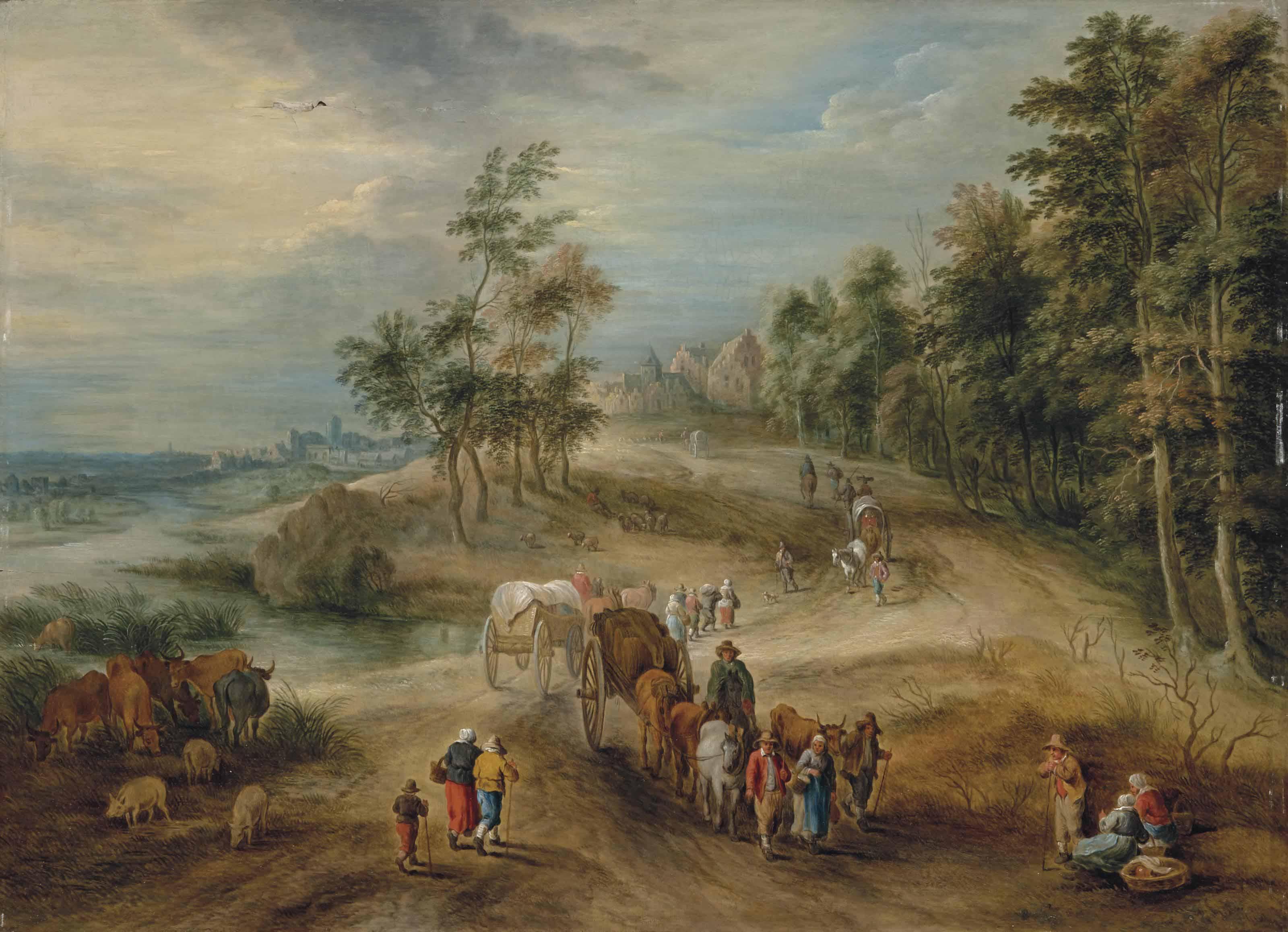 Retour de marché dans la campagne flamande