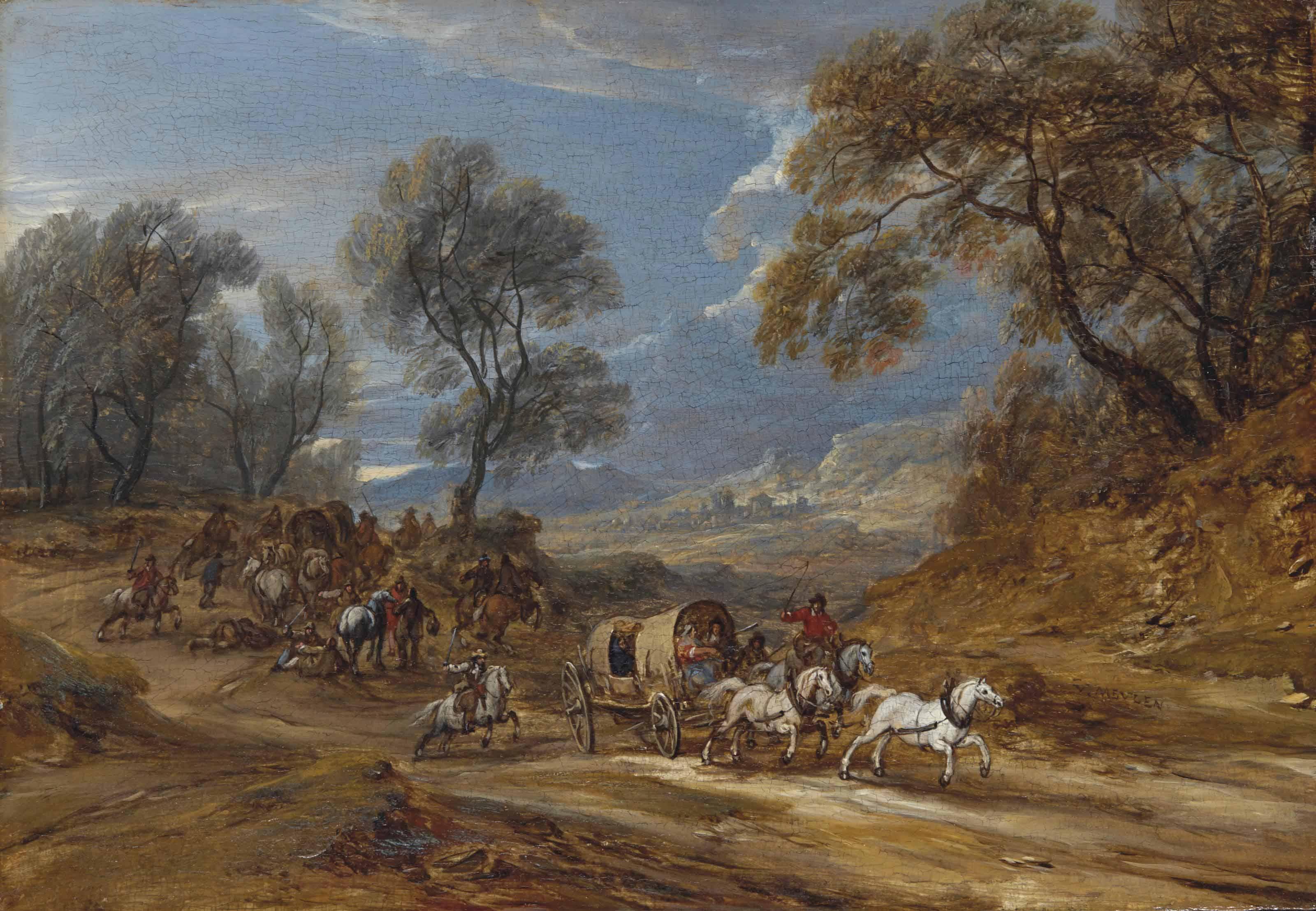 Un convoi attaqué par des brigands