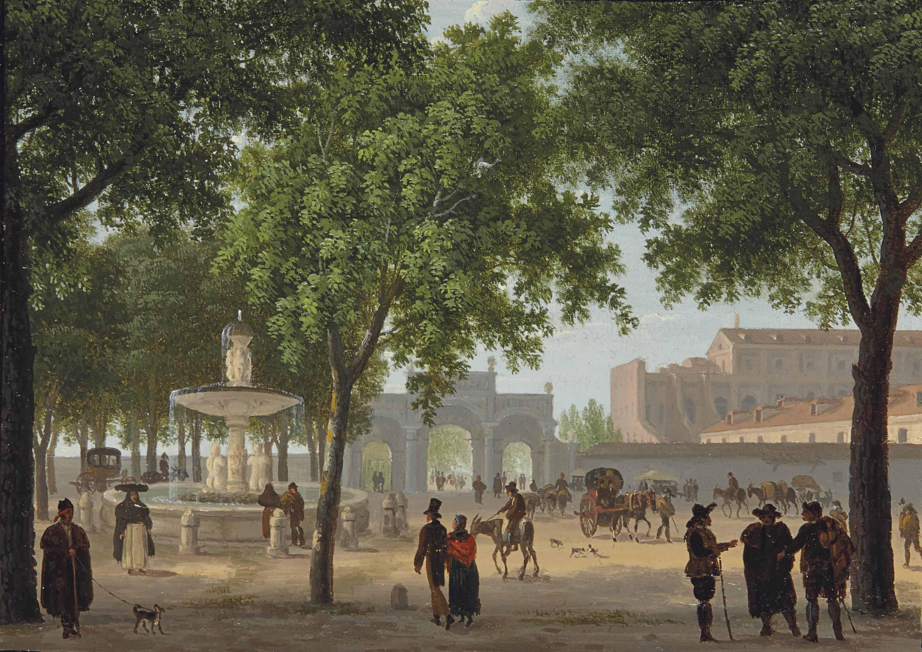 Le paseo del Prado, avec la fontaine de Cybèle