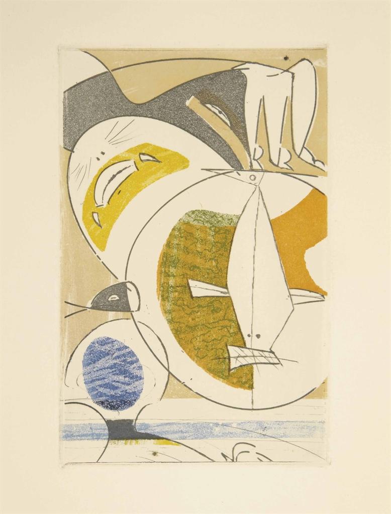 [ERNST] -- Antonin ARTAUD (1896-1948). Galapagos. Les îles du bout du monde. Paris: Louis Broder, septembre 1955. In-8 (210 x 154 mm). 11 eaux-fortes originales de Max Ernst en noir et en couleur dont la couverture, le frontispice, 3 à pleine page et 6 dans le texte. En feuilles, couverture ornée d'une gravure originale de Max Ernst, chemise et étui orné en noir d'après des collages d'Ernst.