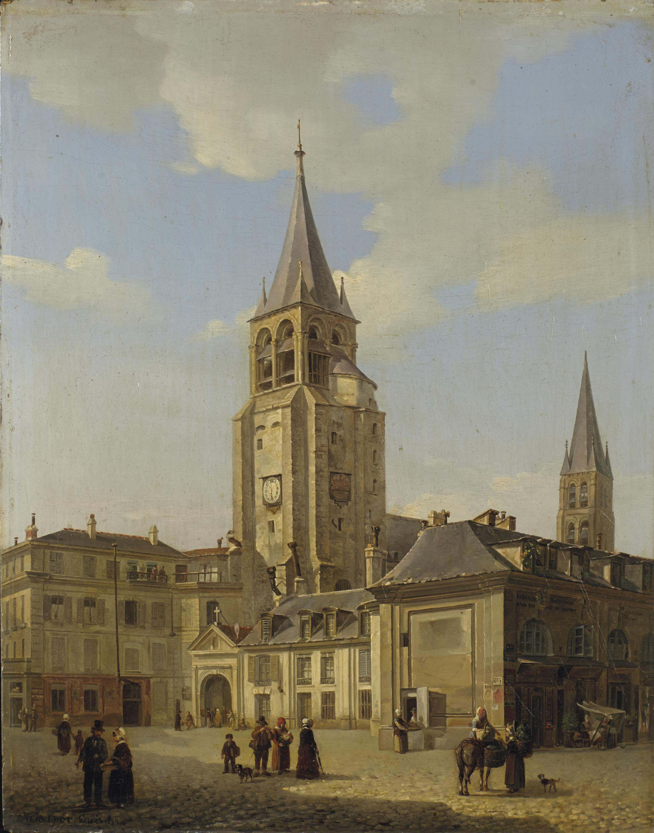 Le parvis de l'église de Saint-Germain-des-Prés