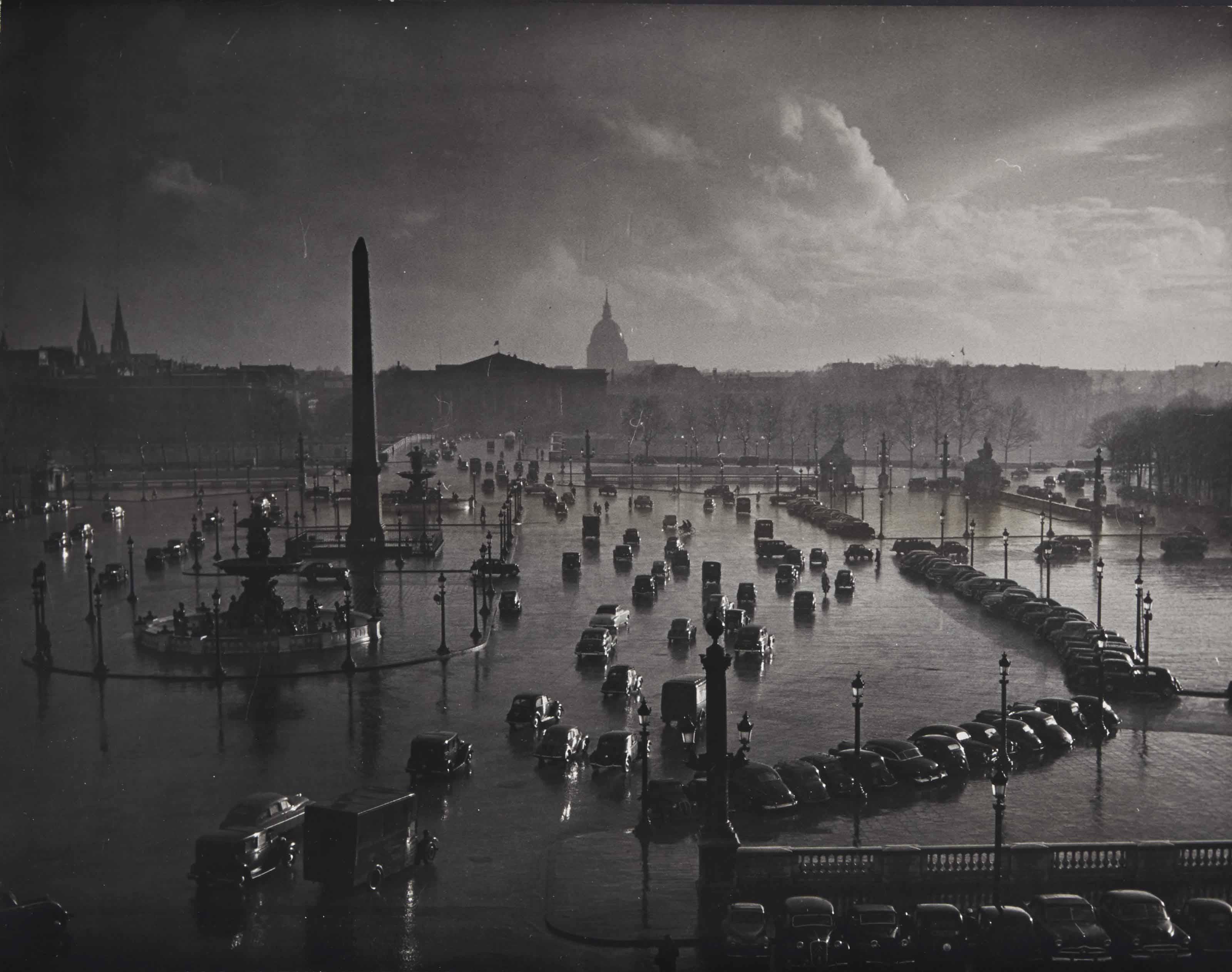 Place de la Concorde, Paris, vers 1950