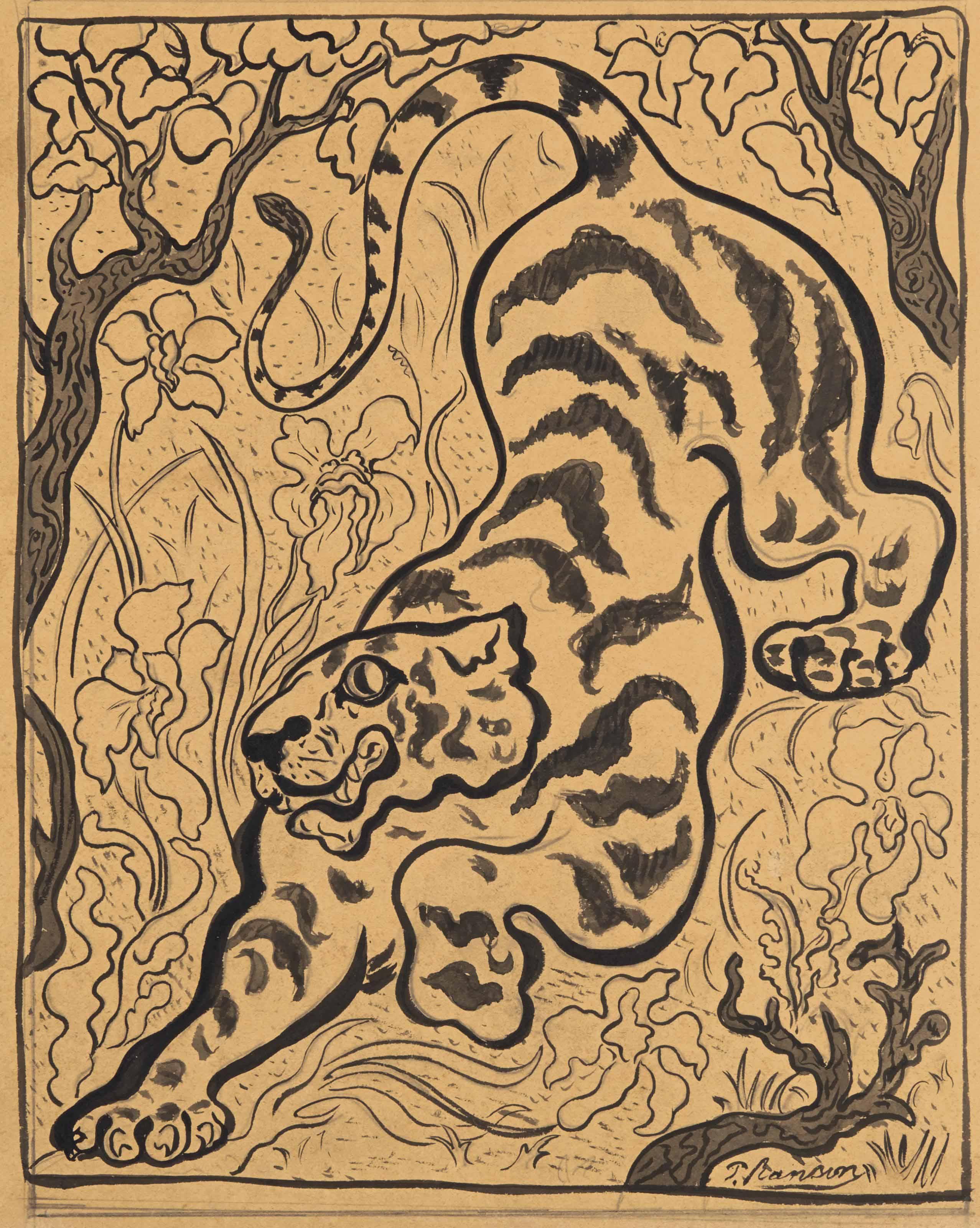 Tigre dans les jungles