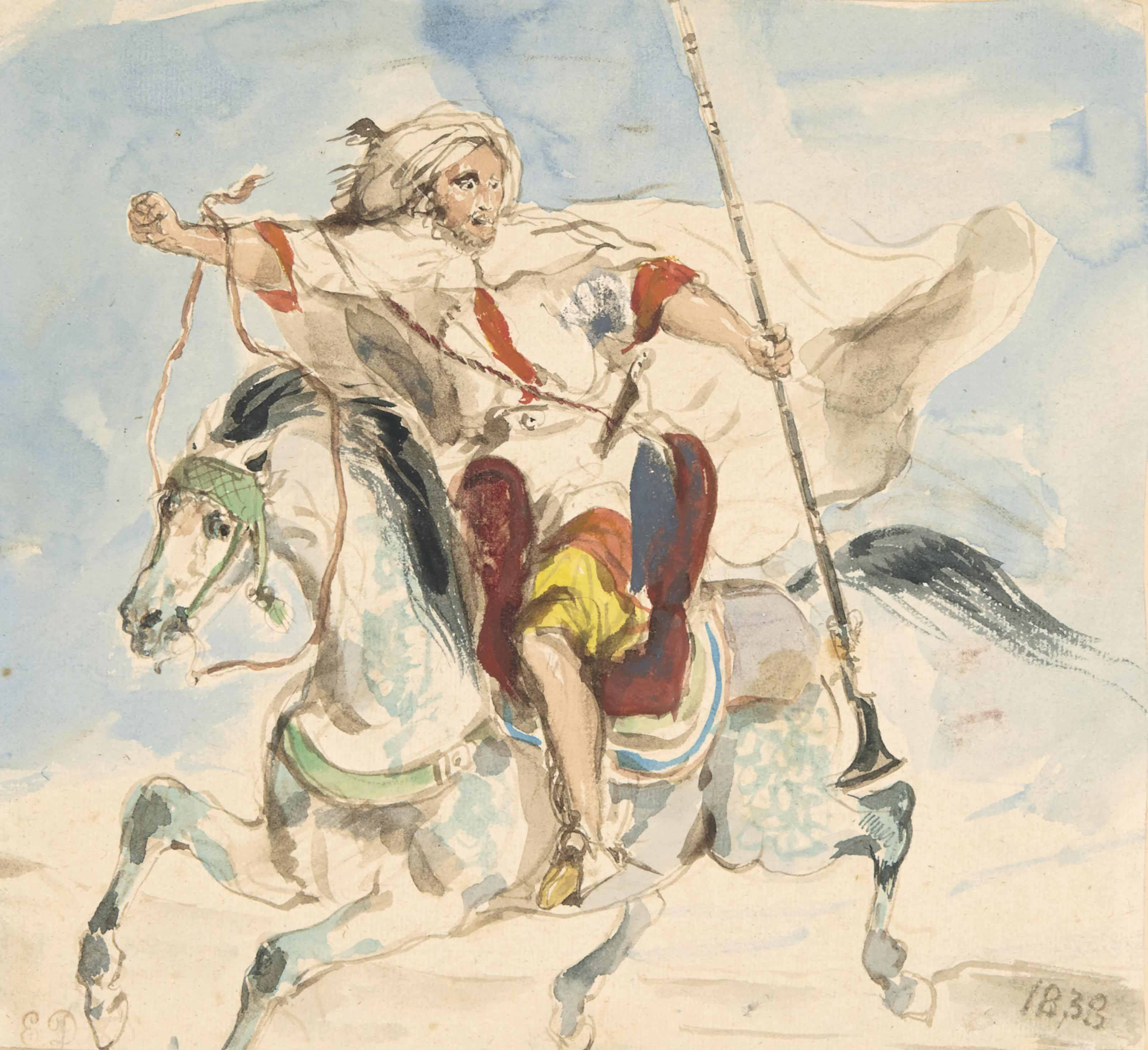 Cavalier arabe à cheval