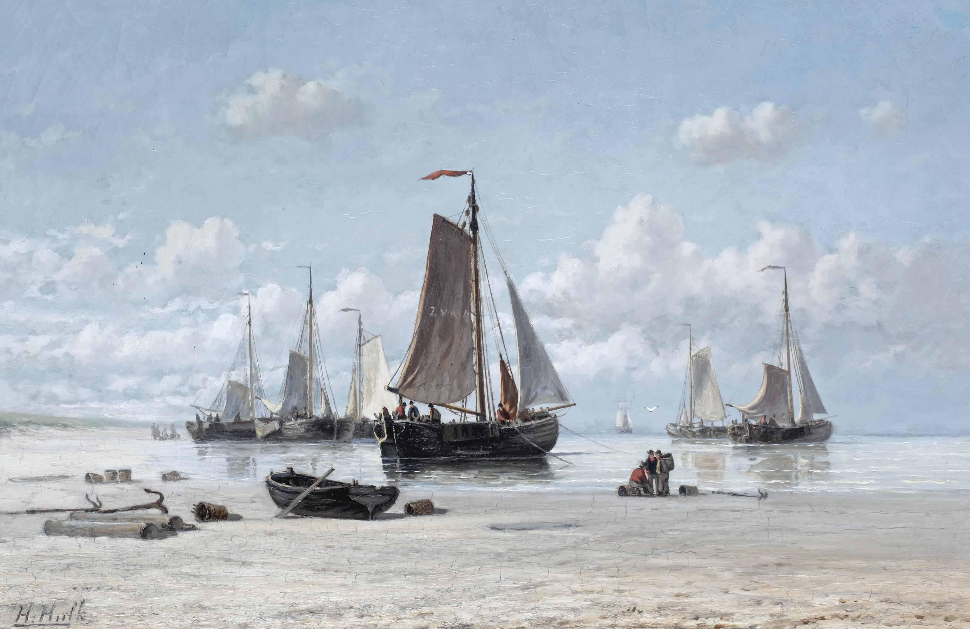 Fishing vessels on the beach, Zandvoort