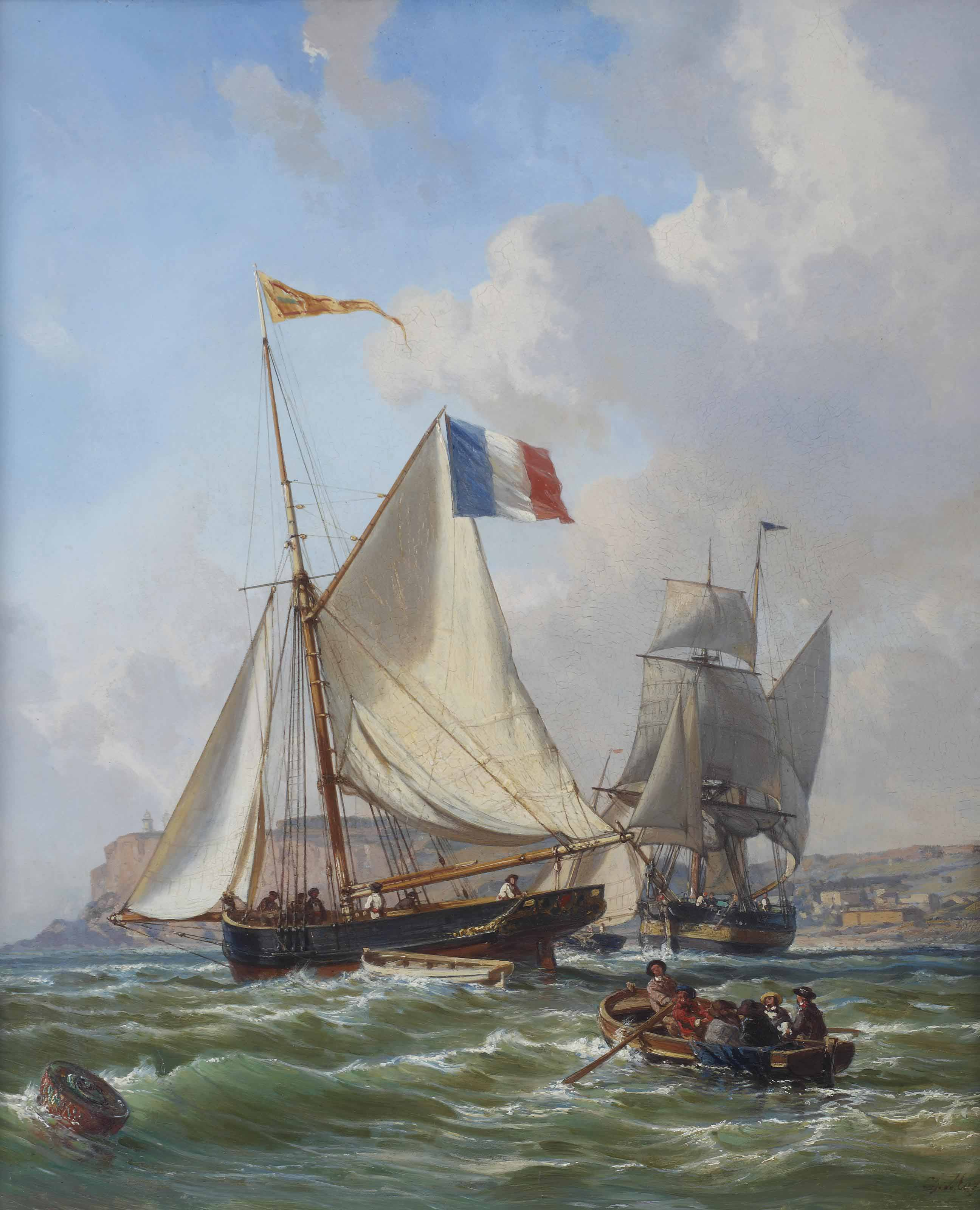 Preparing for a sailing trip near the coast of Normandy